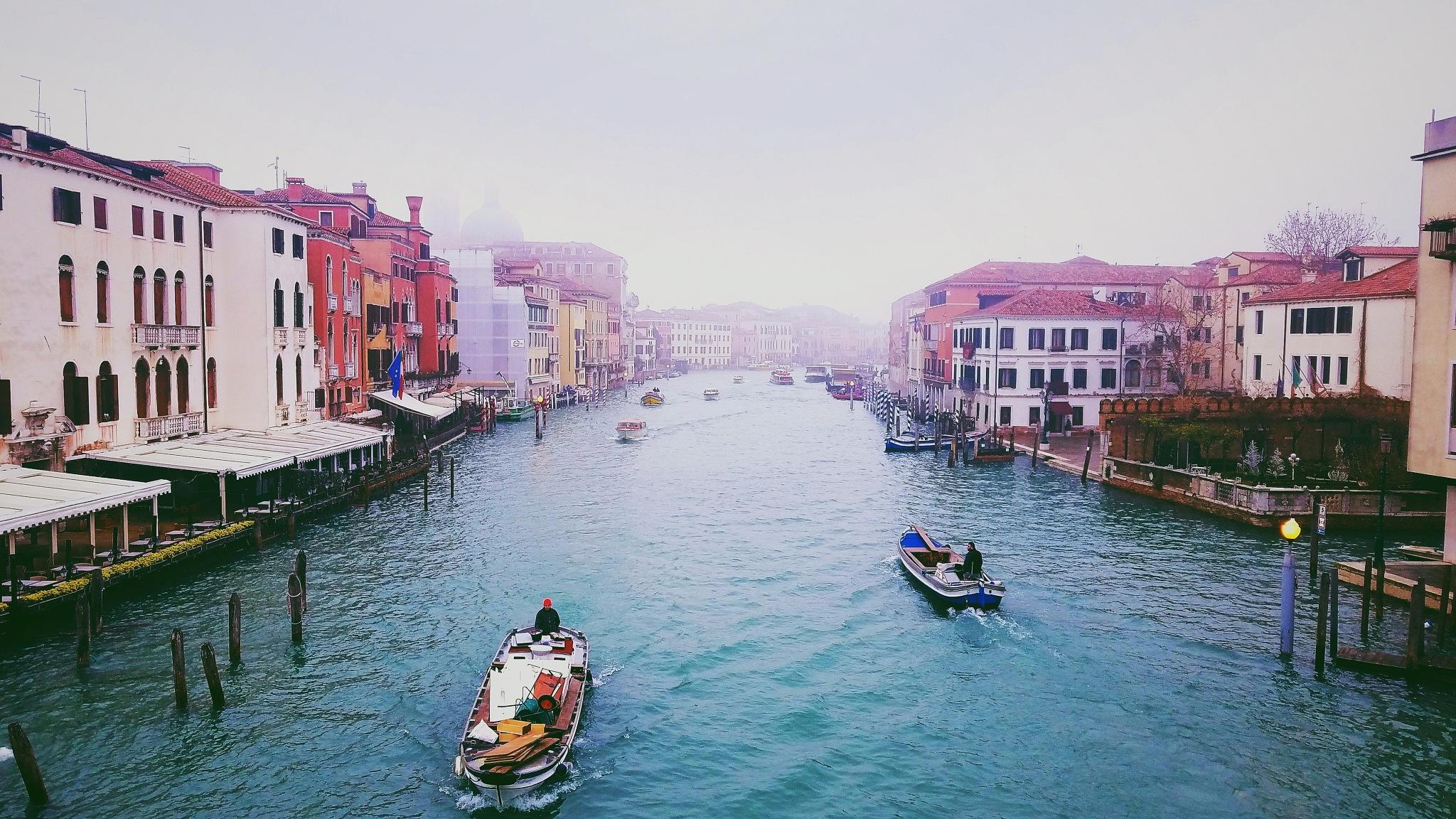 Venice Under Fog by Franklin Roman