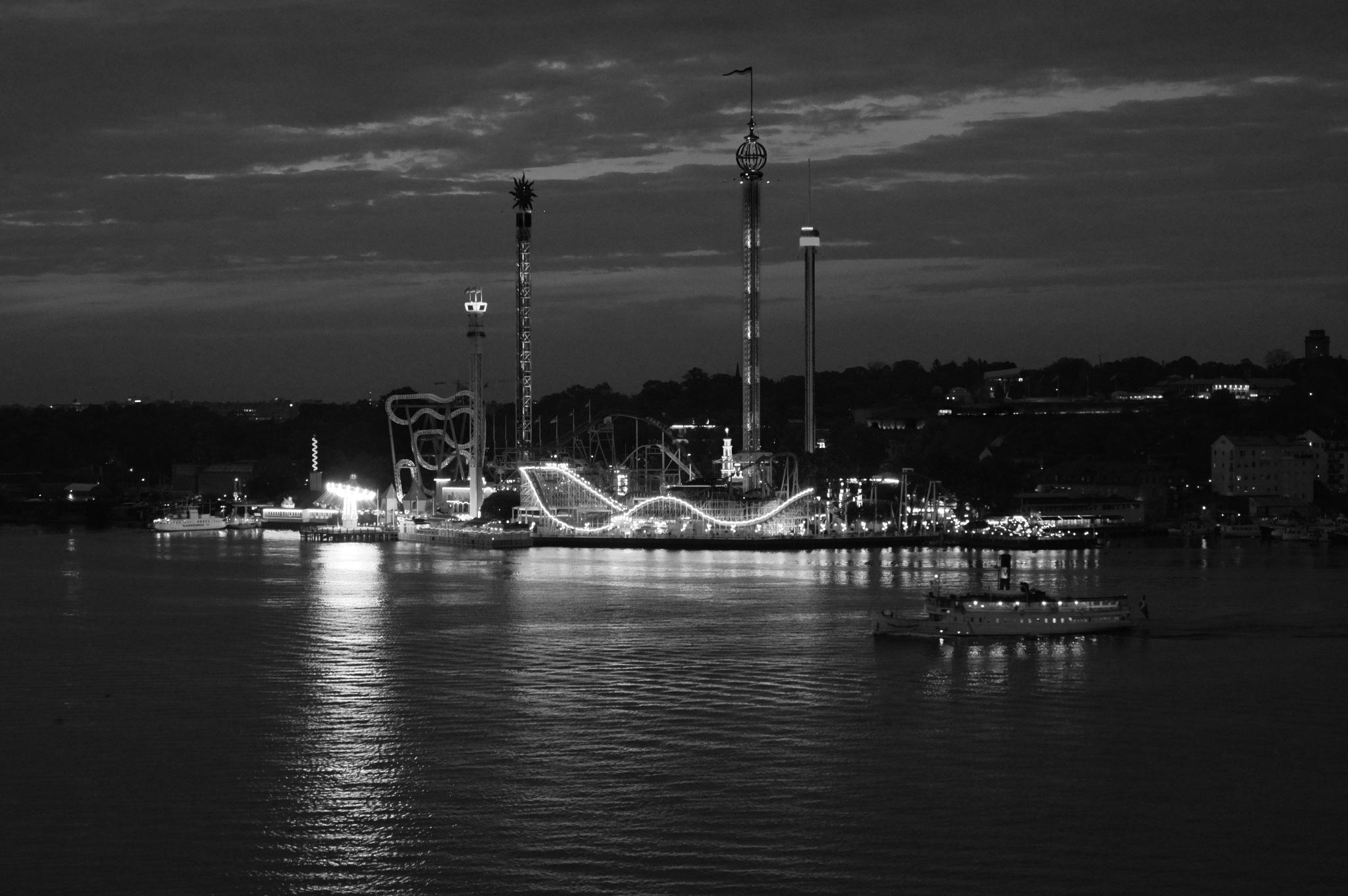 Tivoli Gröna Lund by Night, Stockholm by Annica Nykvist