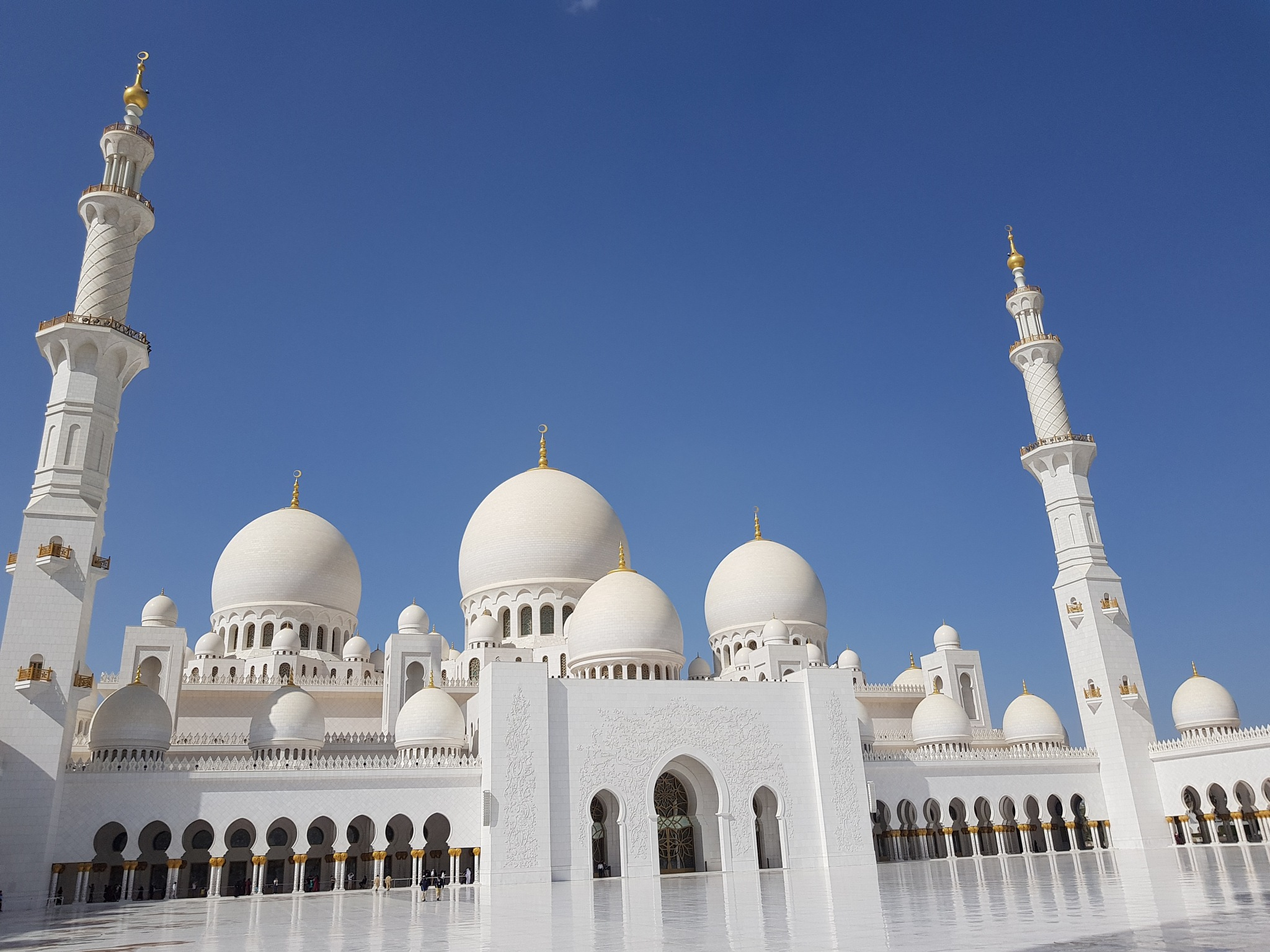 Photo in Travel #mosque #abudhabi #sky #center