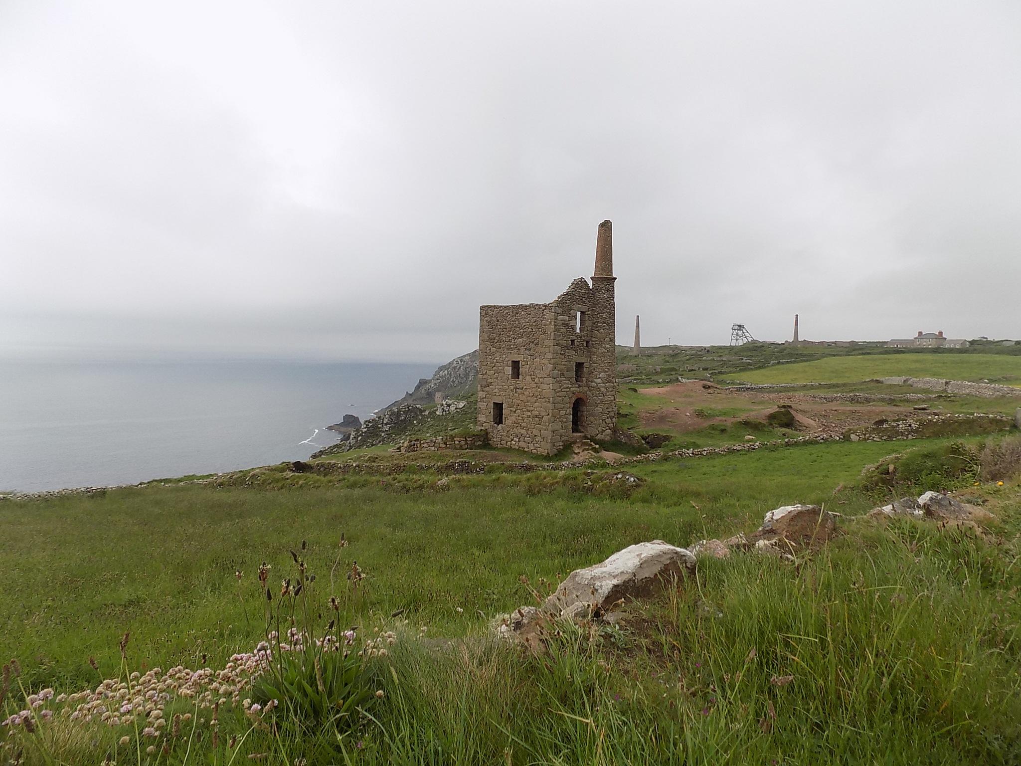 Cornish Tin Mines  by Amanda