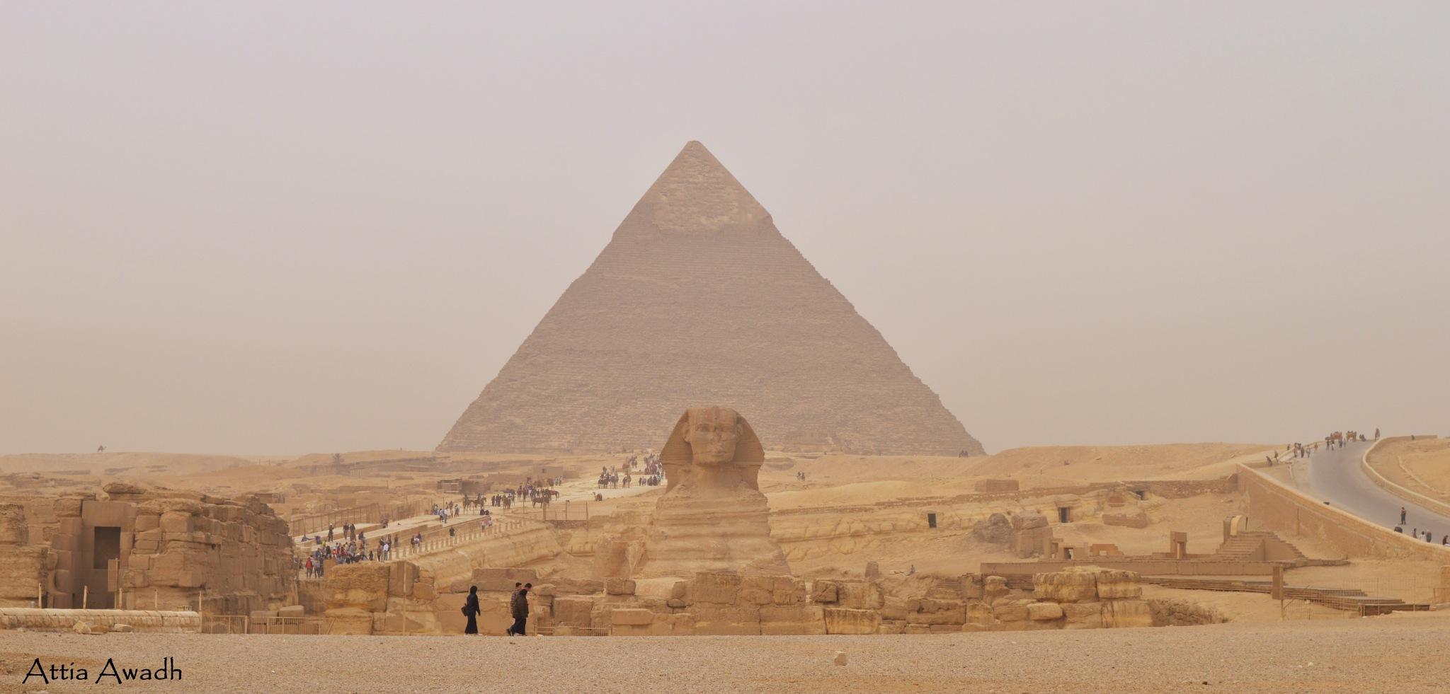 Pyramids by Attia Awadh