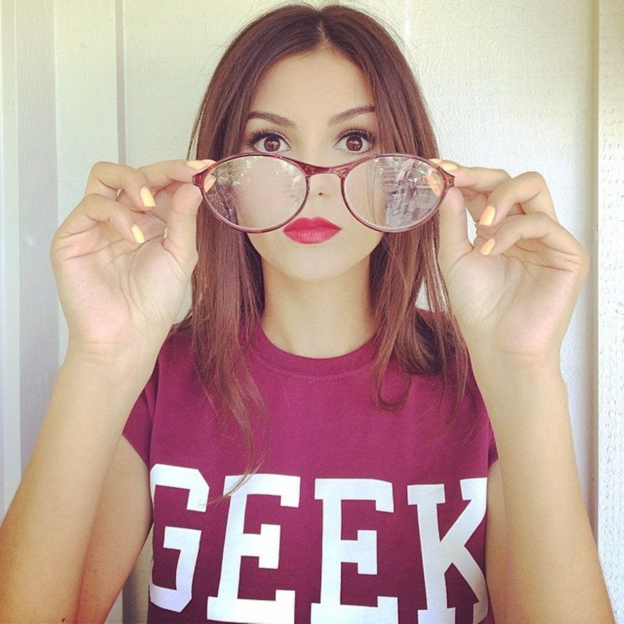 Get your geek on.  by Victoria Justice
