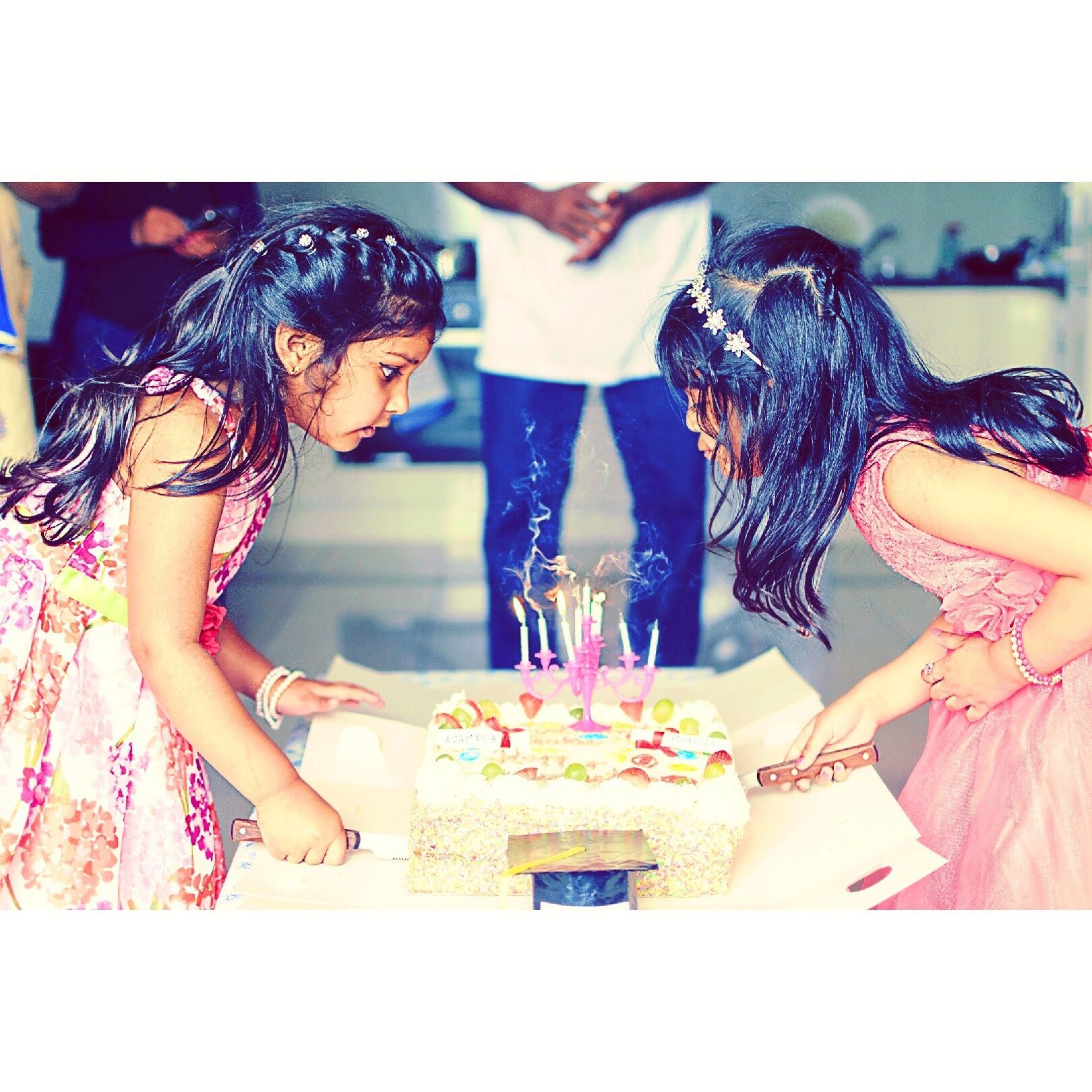 When two sisters celebrate  by Richu Mathew Varghese