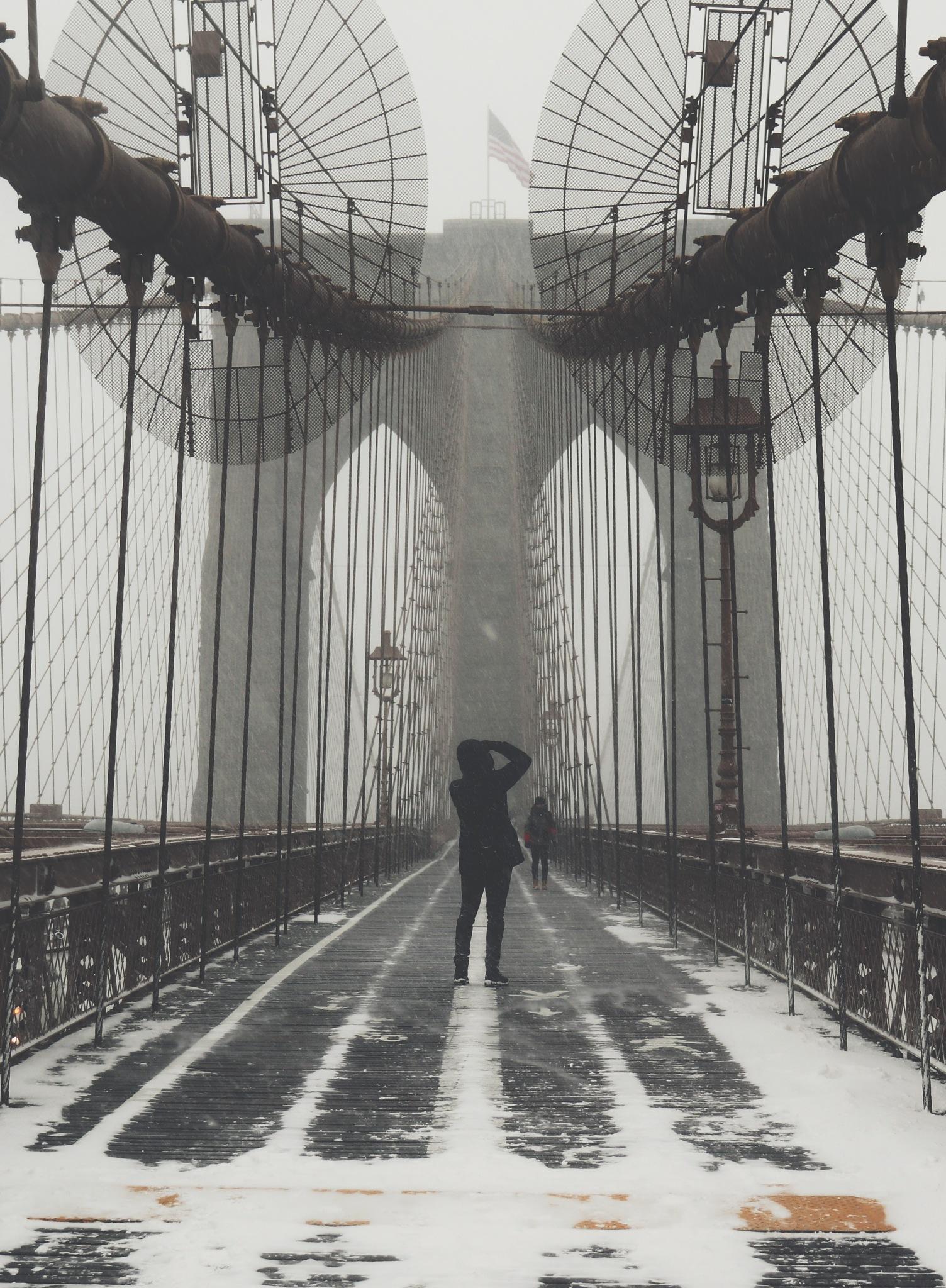 Brooklyn Bridge by Jennifer Sans