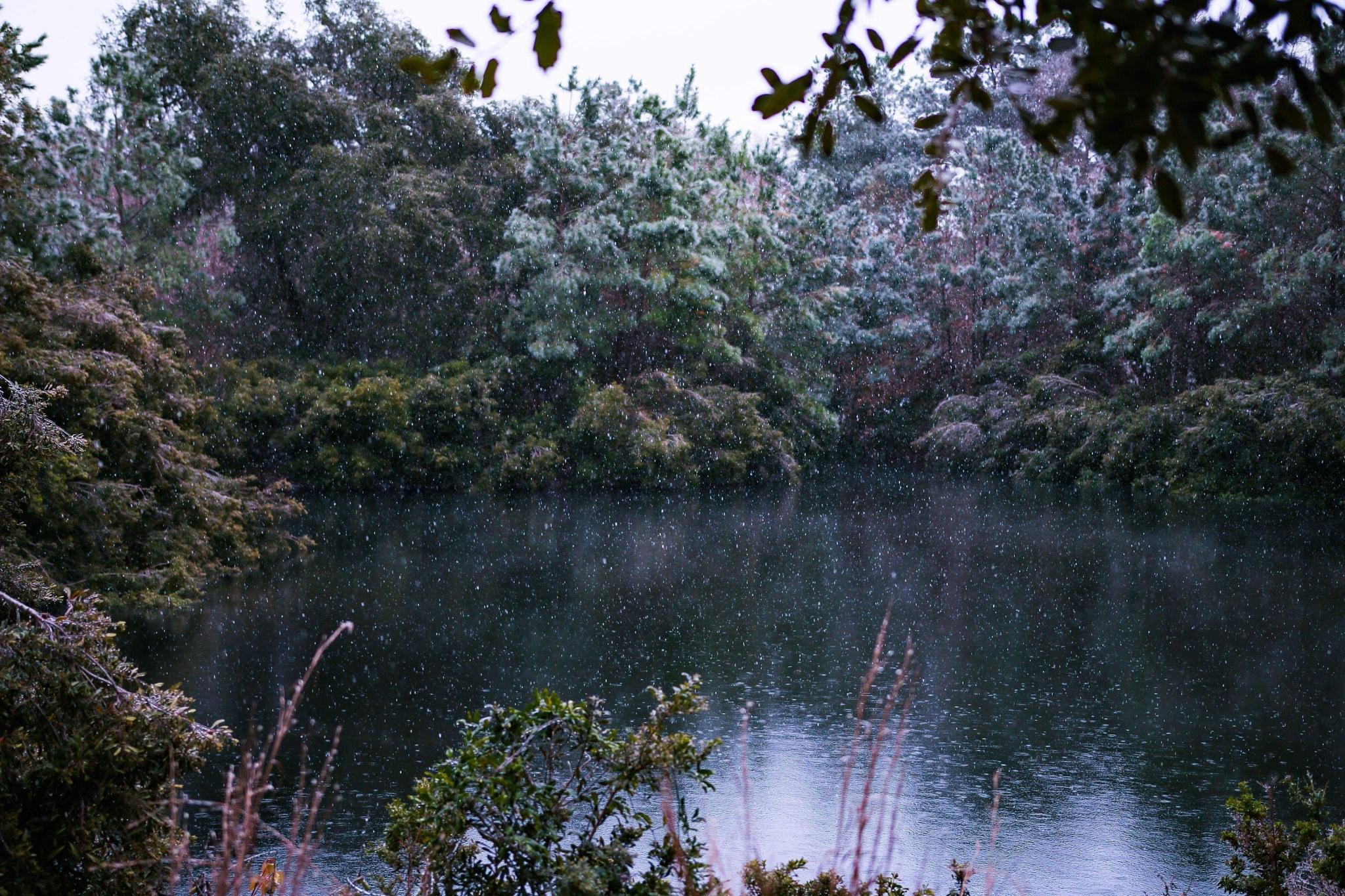 Winter lake  by Aaron Guerrero