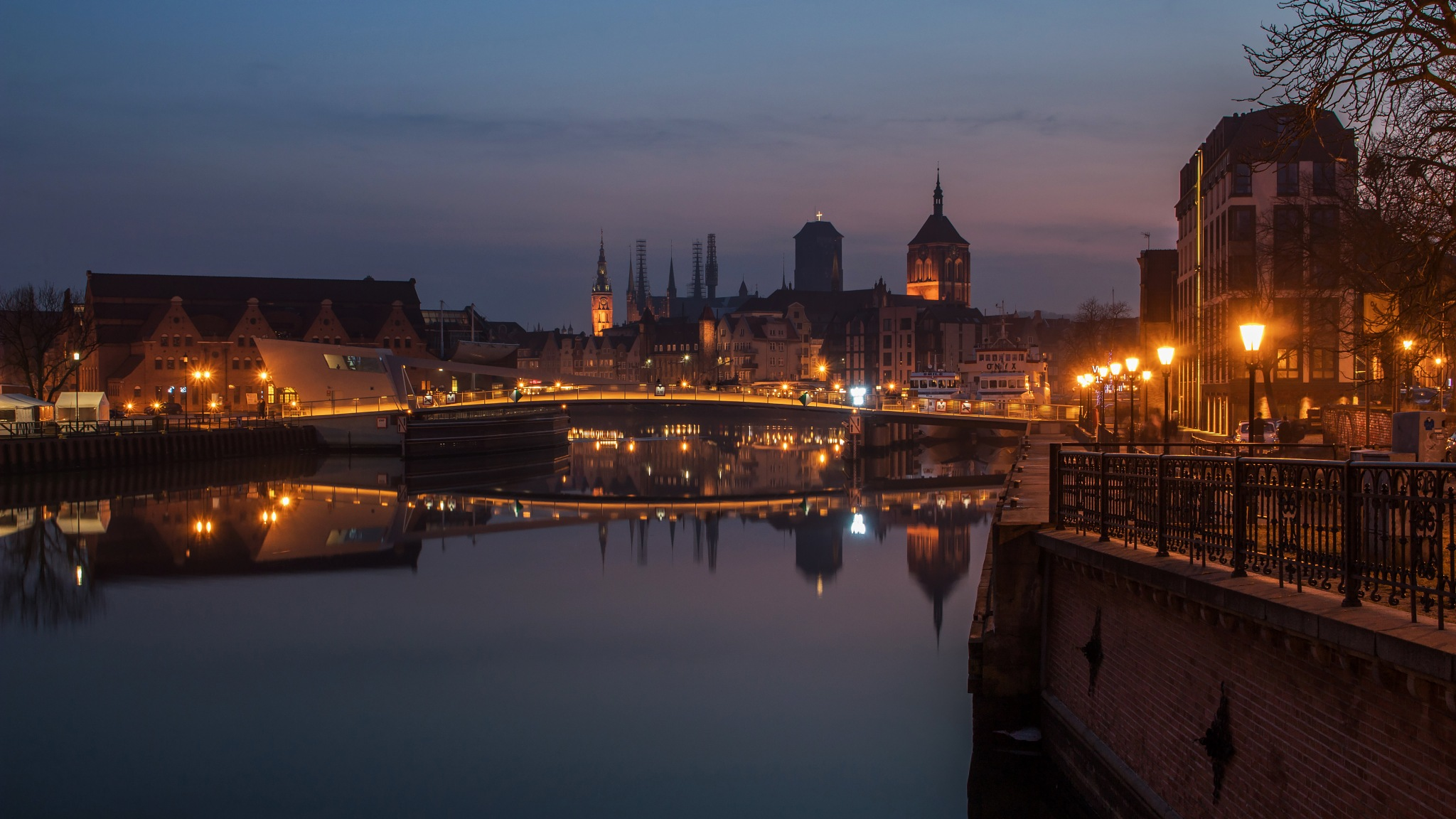 An Evening in Gdansk, Poland by Paweł