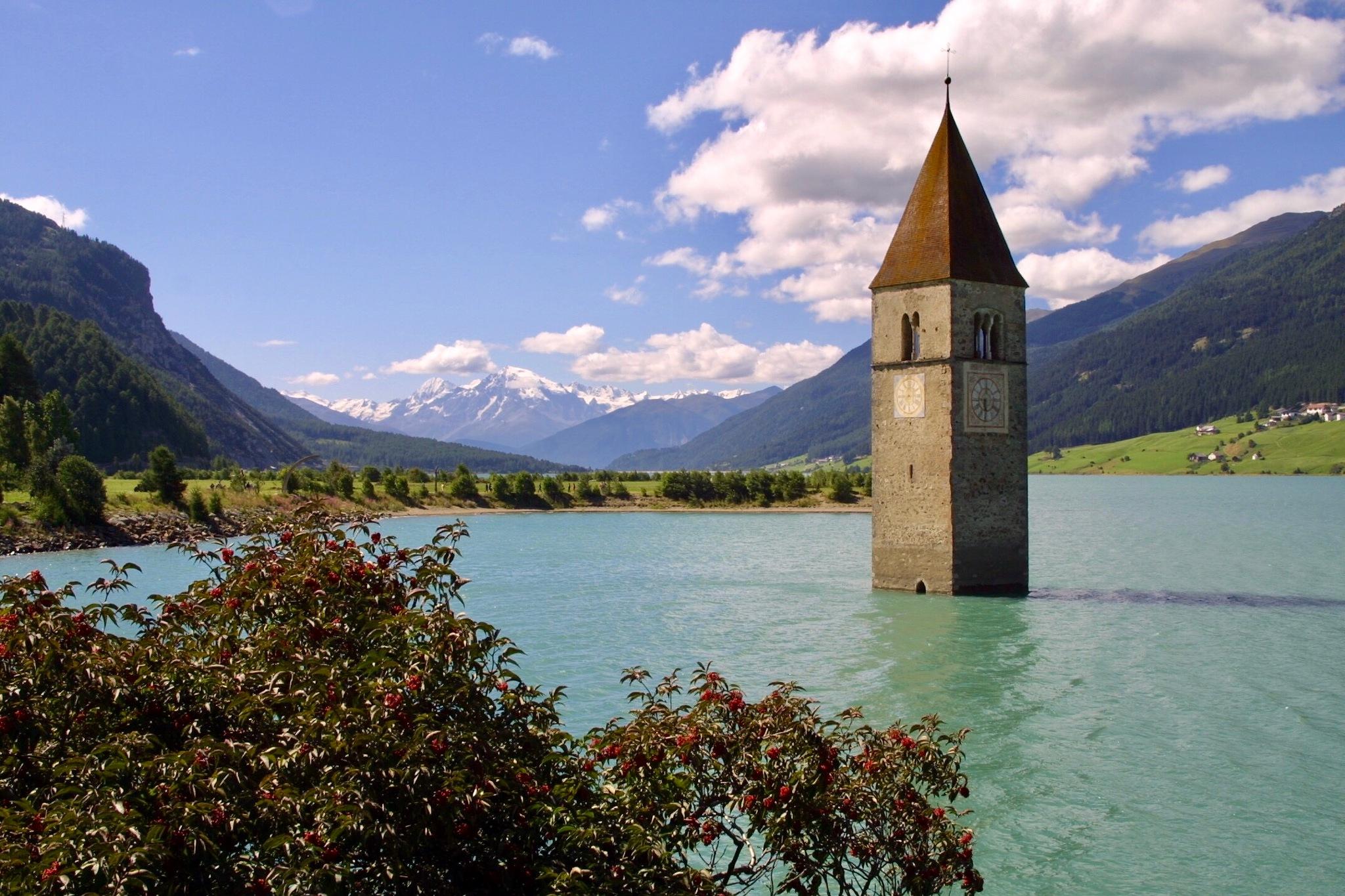 The tower on the lake by Francisco Sá da Bandeira