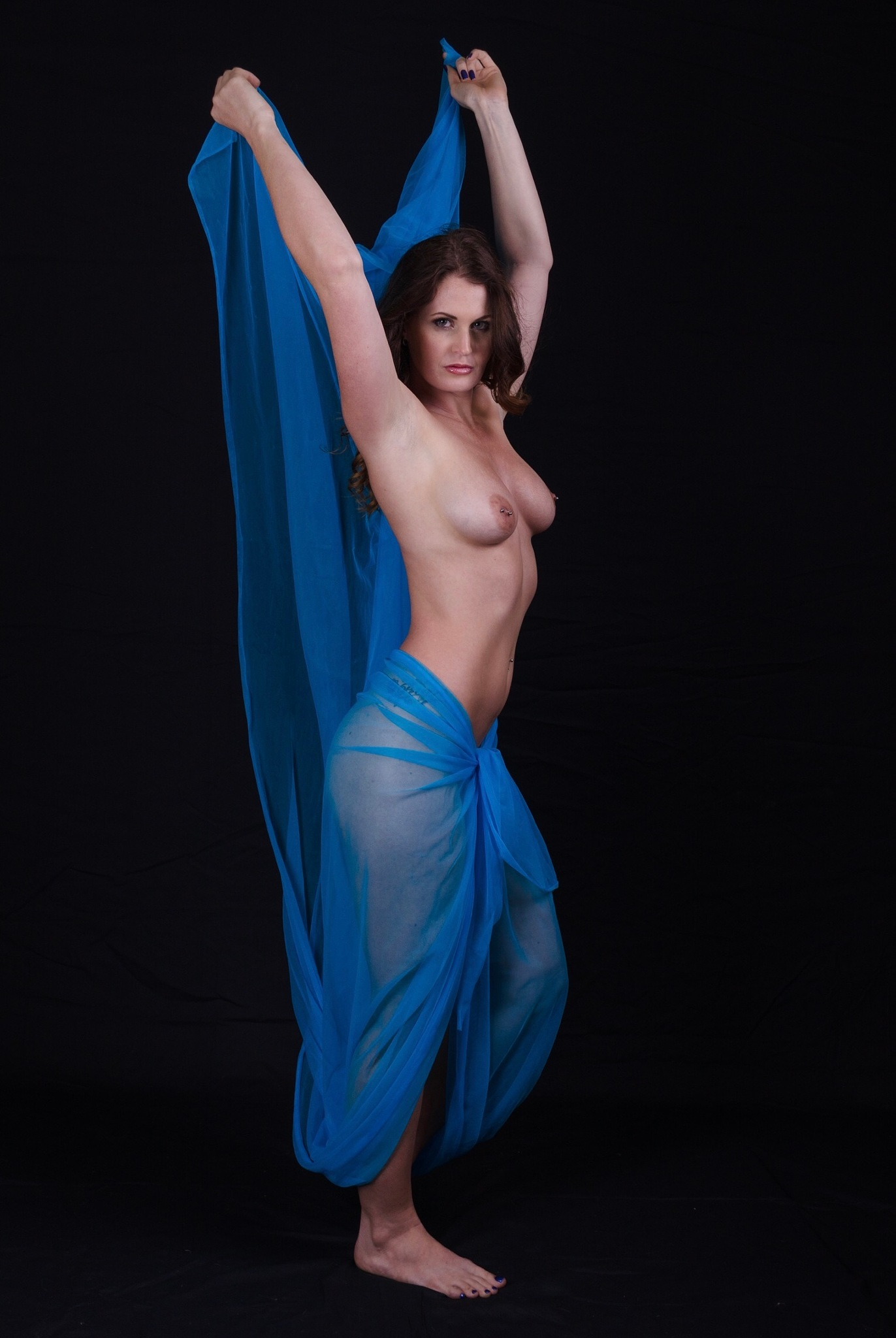 Jade - Salome and the blue veil by Double Take Photographics