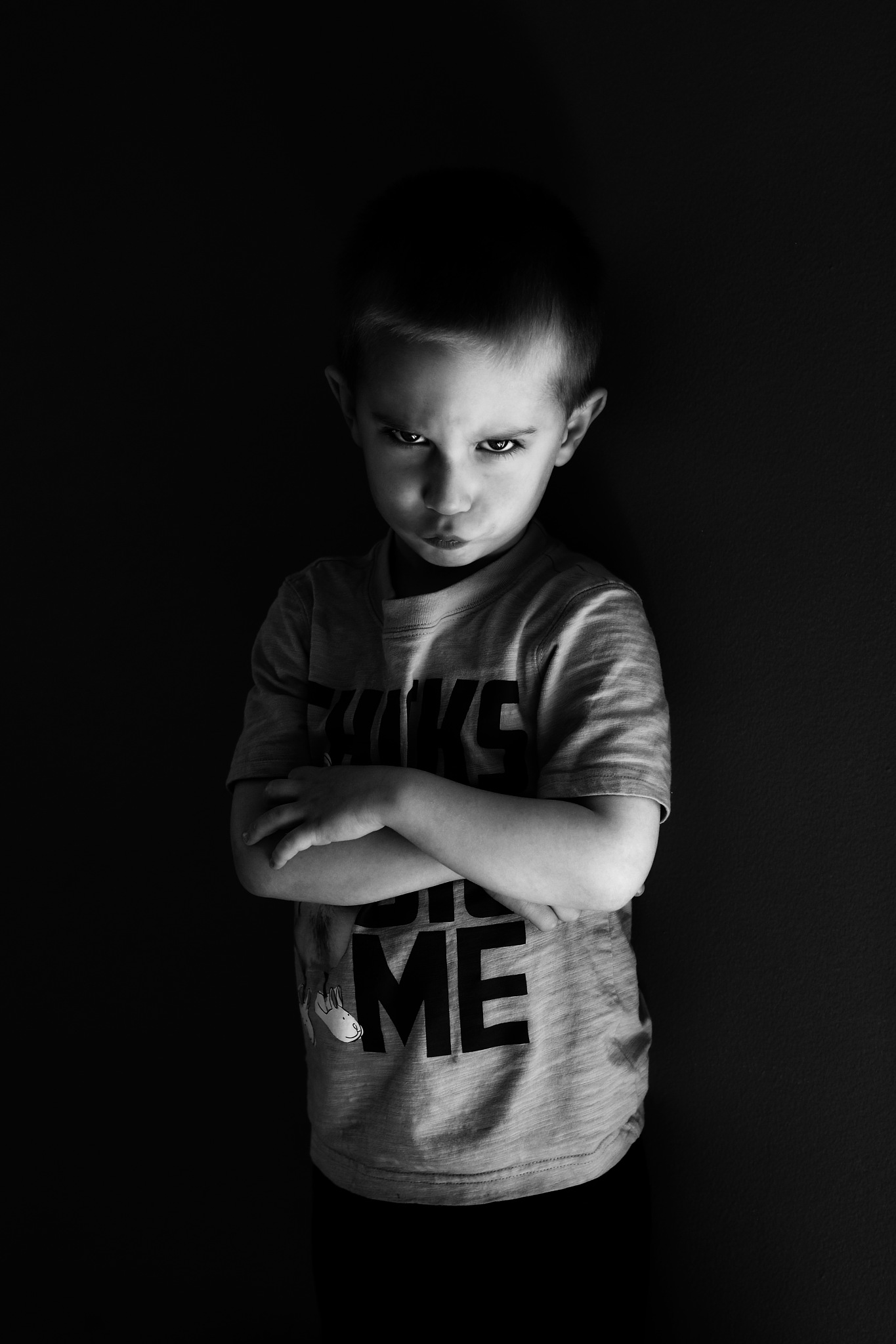 Boy with attitude  by Mike Sullivan