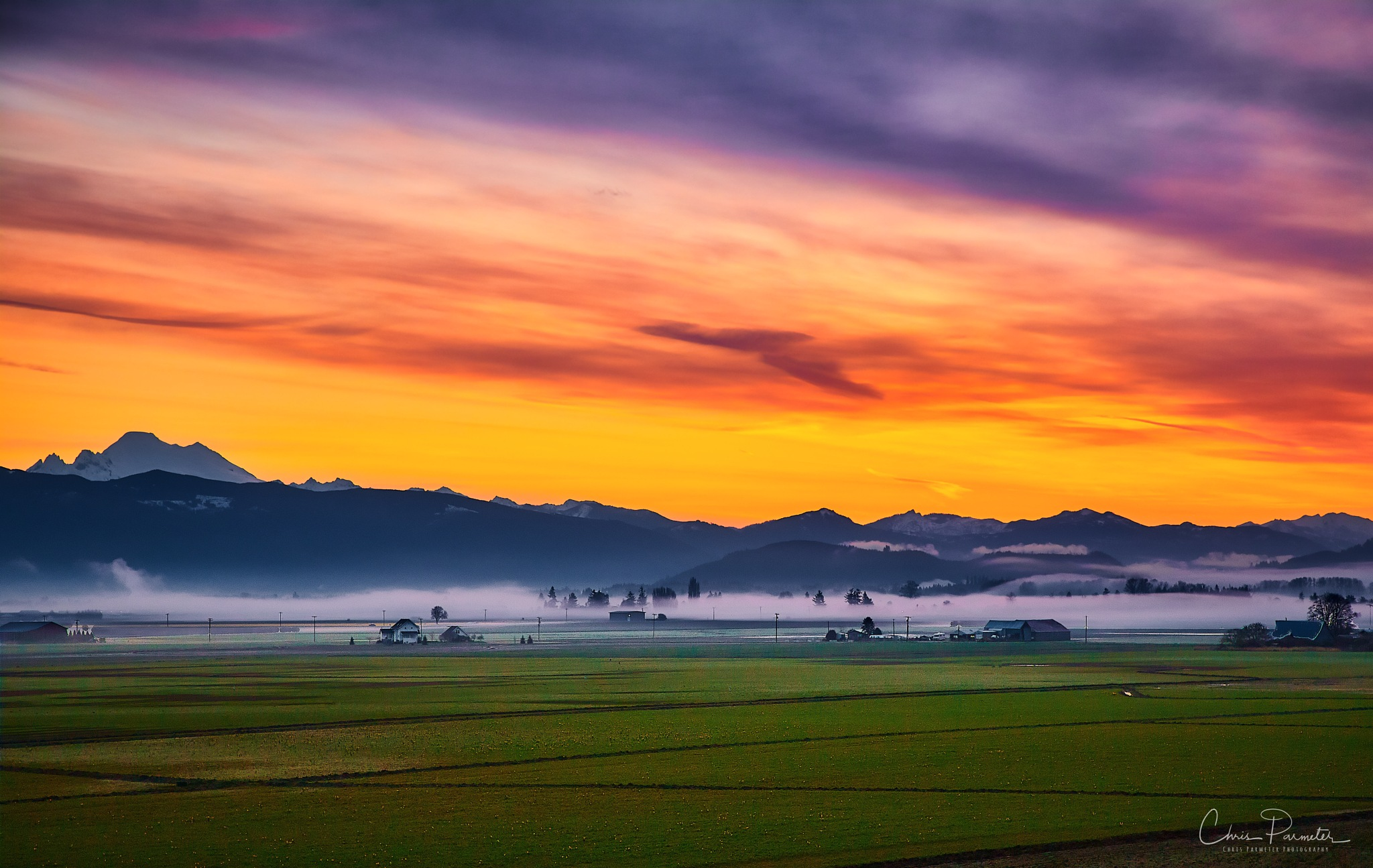 Sunrise in Skagit Valley by Chris Parmeter