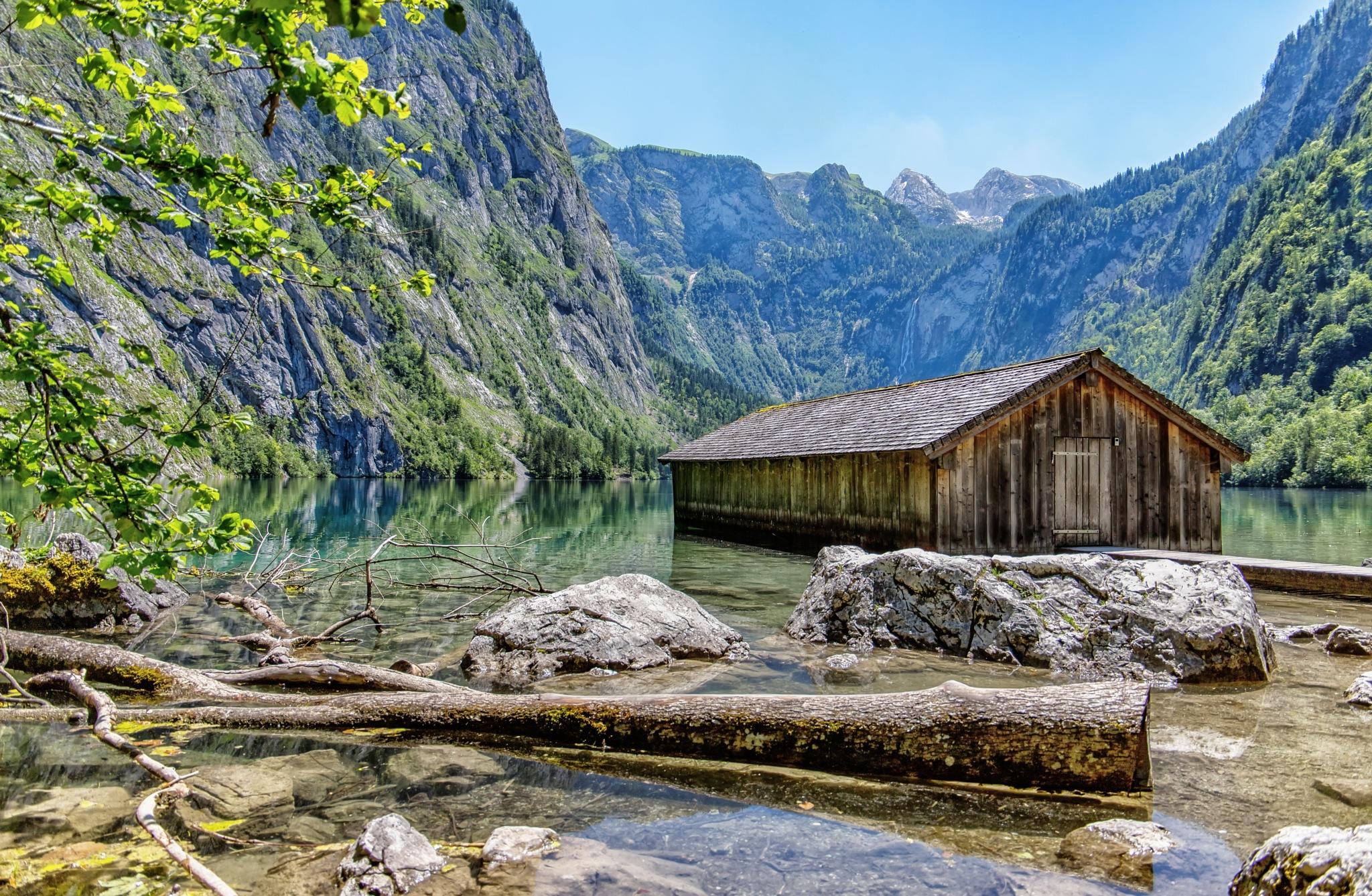 Fisherhut Lake Obersee by Margritta