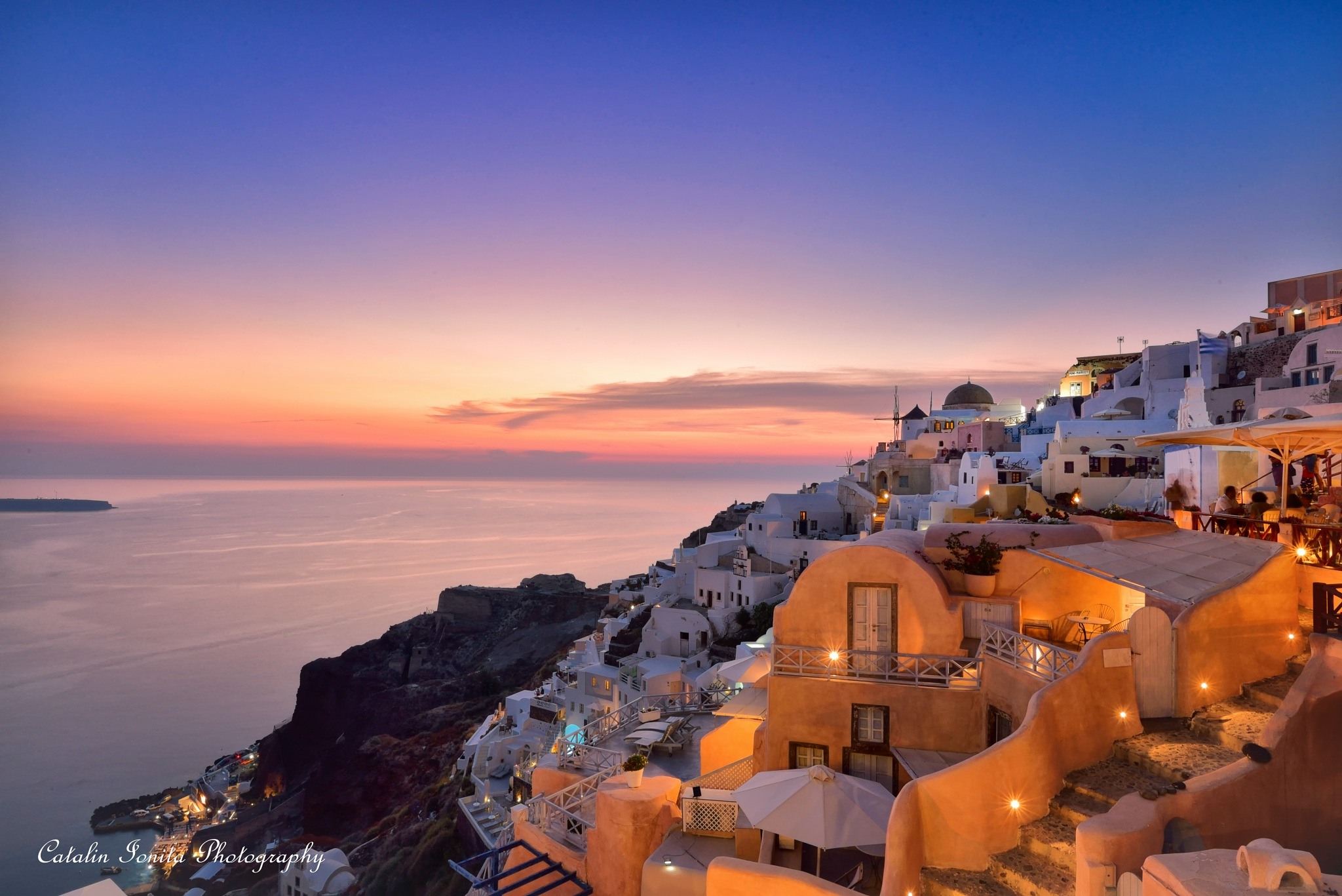 After sunset in Oia by CatalinIonitaPhotographer