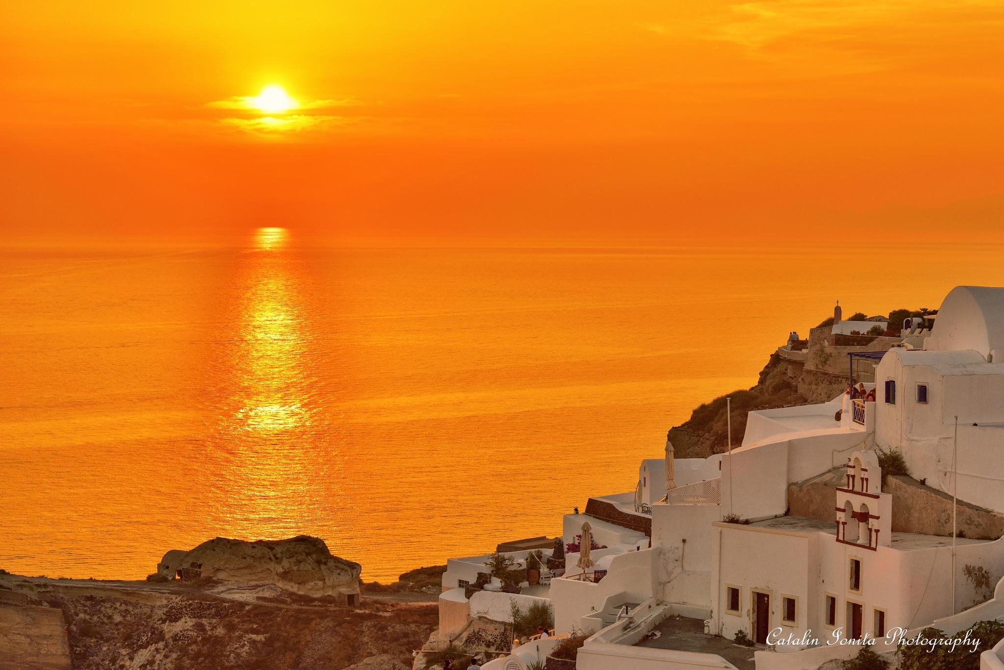 Orange sunset by CatalinIonitaPhotographer