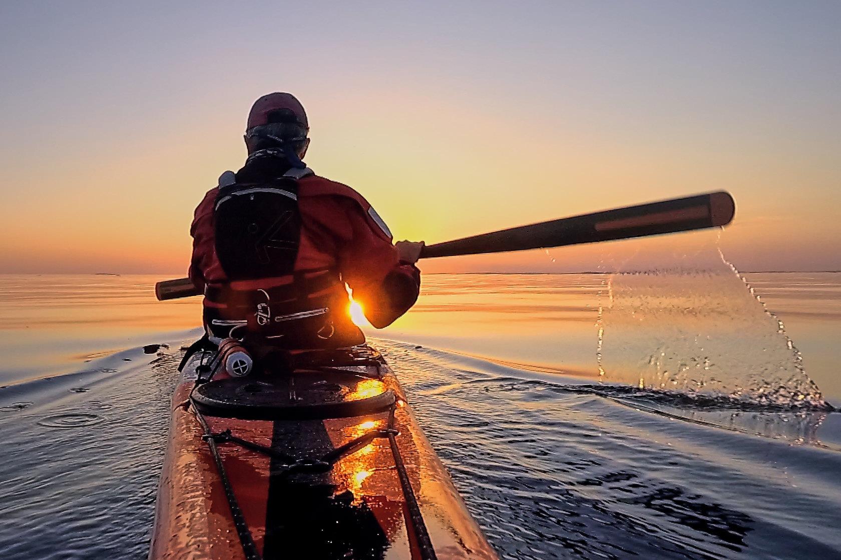 Sunset paddling on the Swedish west coast.  by DDeninger