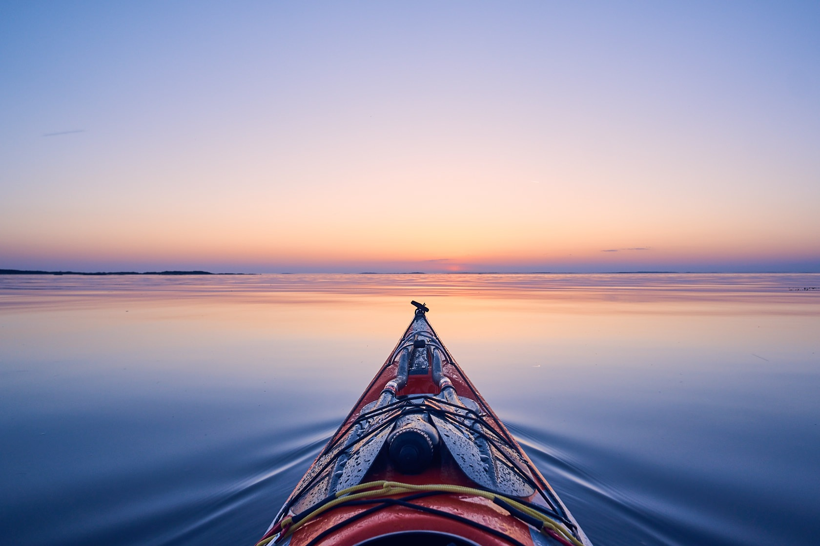 Calm sunset paddling on the Swedish west coast.  by DDeninger