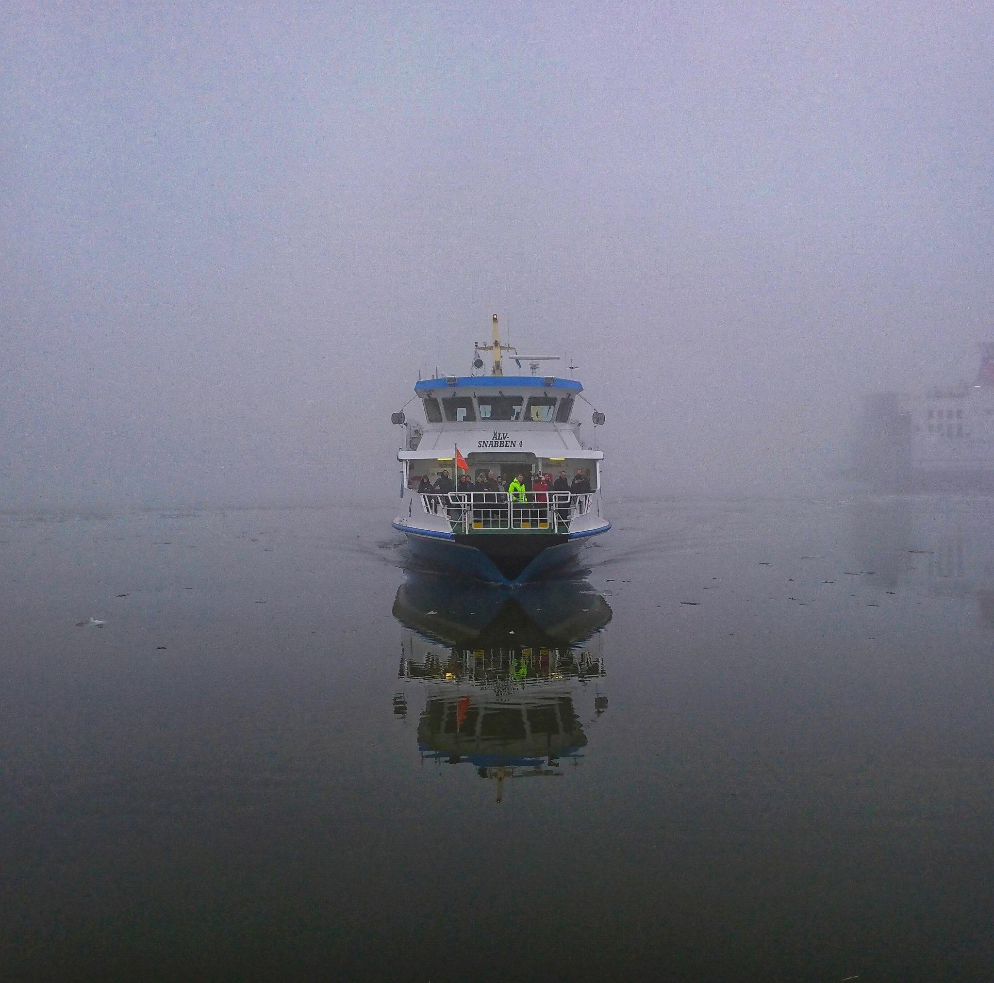 Ferry in the fog  by Krister Honkonen