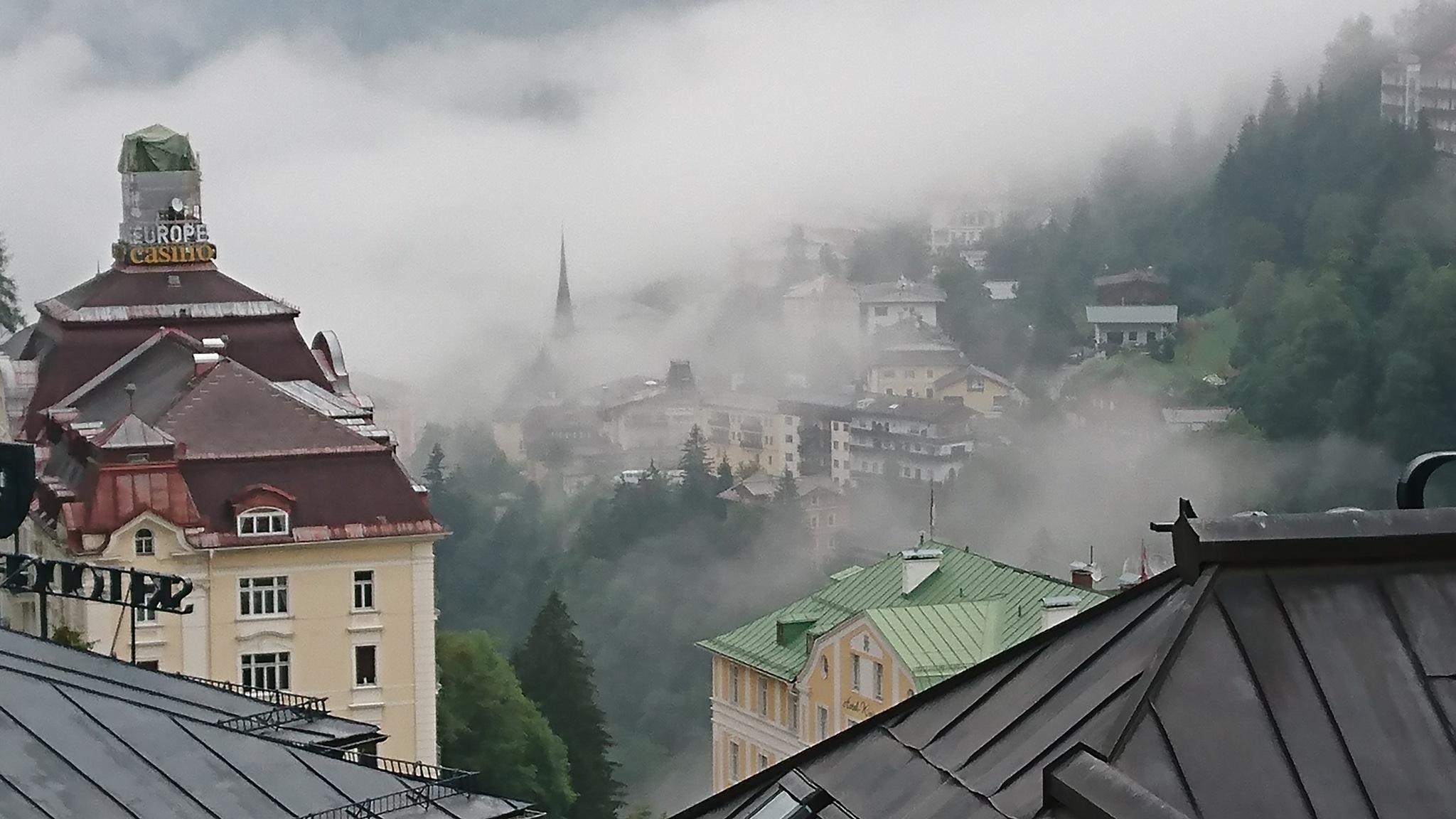 Bad Gastein in the clouds by Krister Honkonen