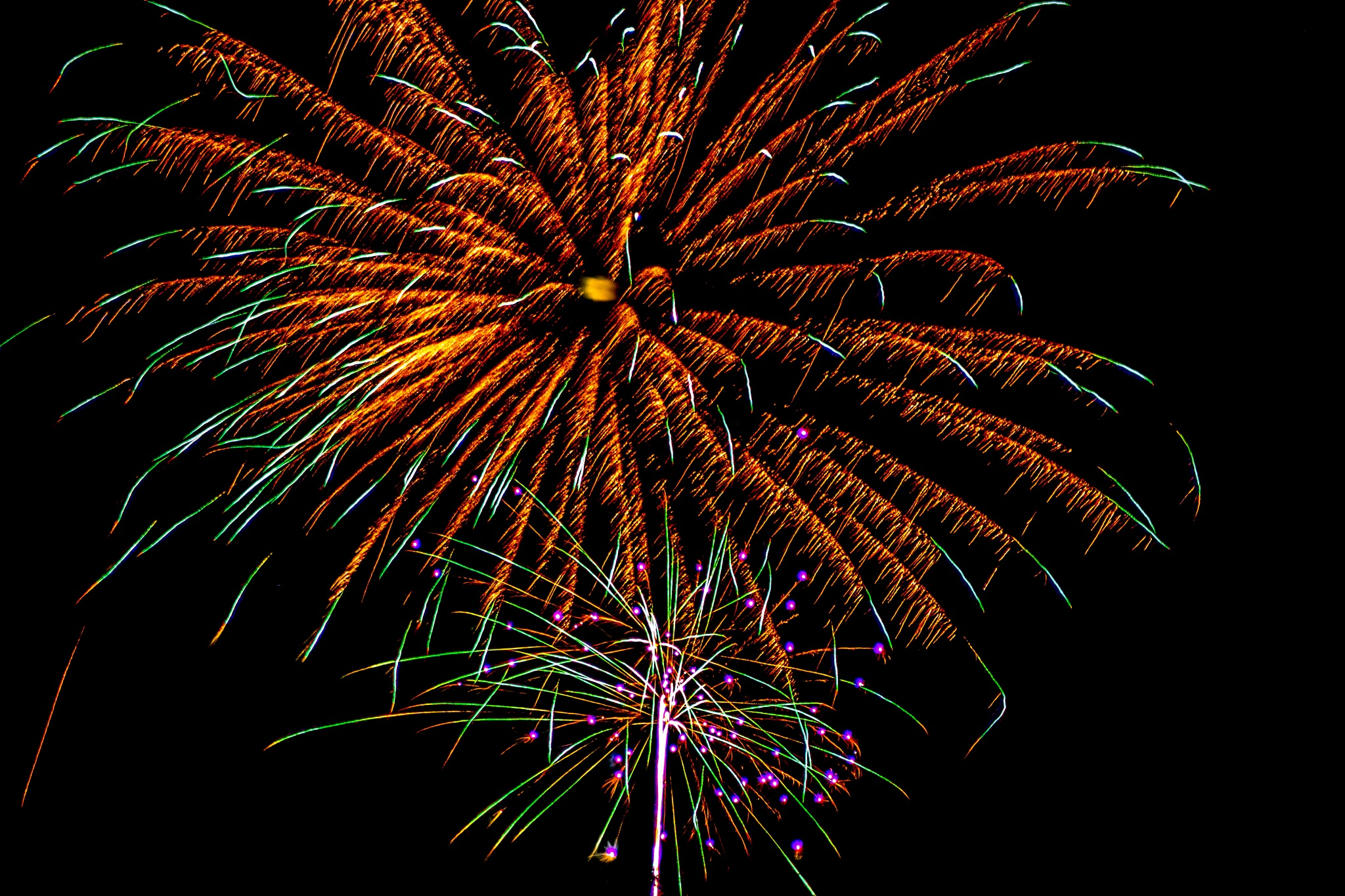 Independence Day Fireworks Display-22 by Julie Wooden
