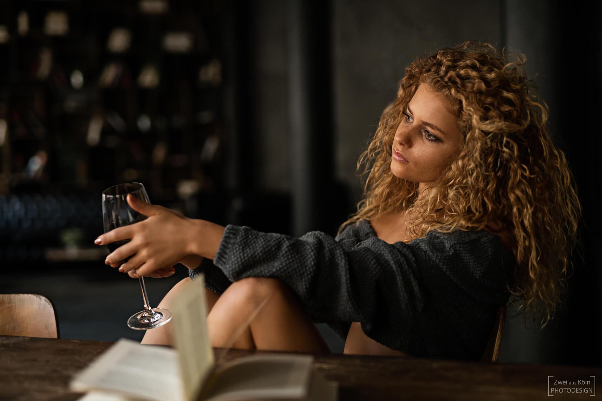 Photo in Portrait #daydream #sceptical #wine #view #sensual #sexy #book #portrait #availablelight