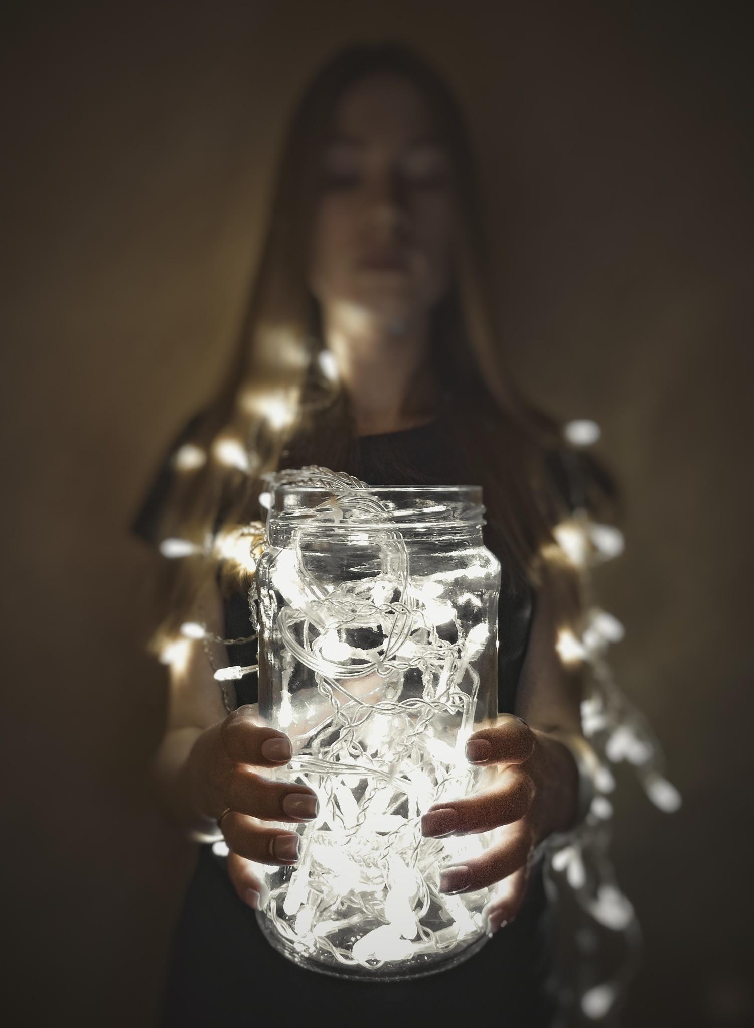 Christmas girl... by Leontev Artem