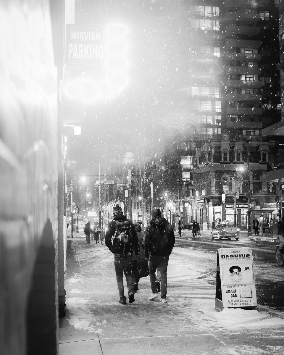 Snow walk by Salam Yahya