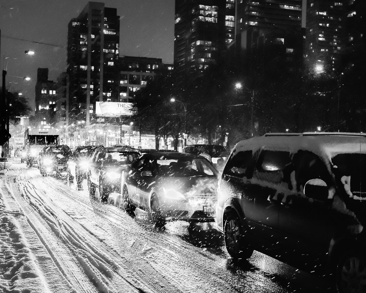Snowy streets by Salam Yahya