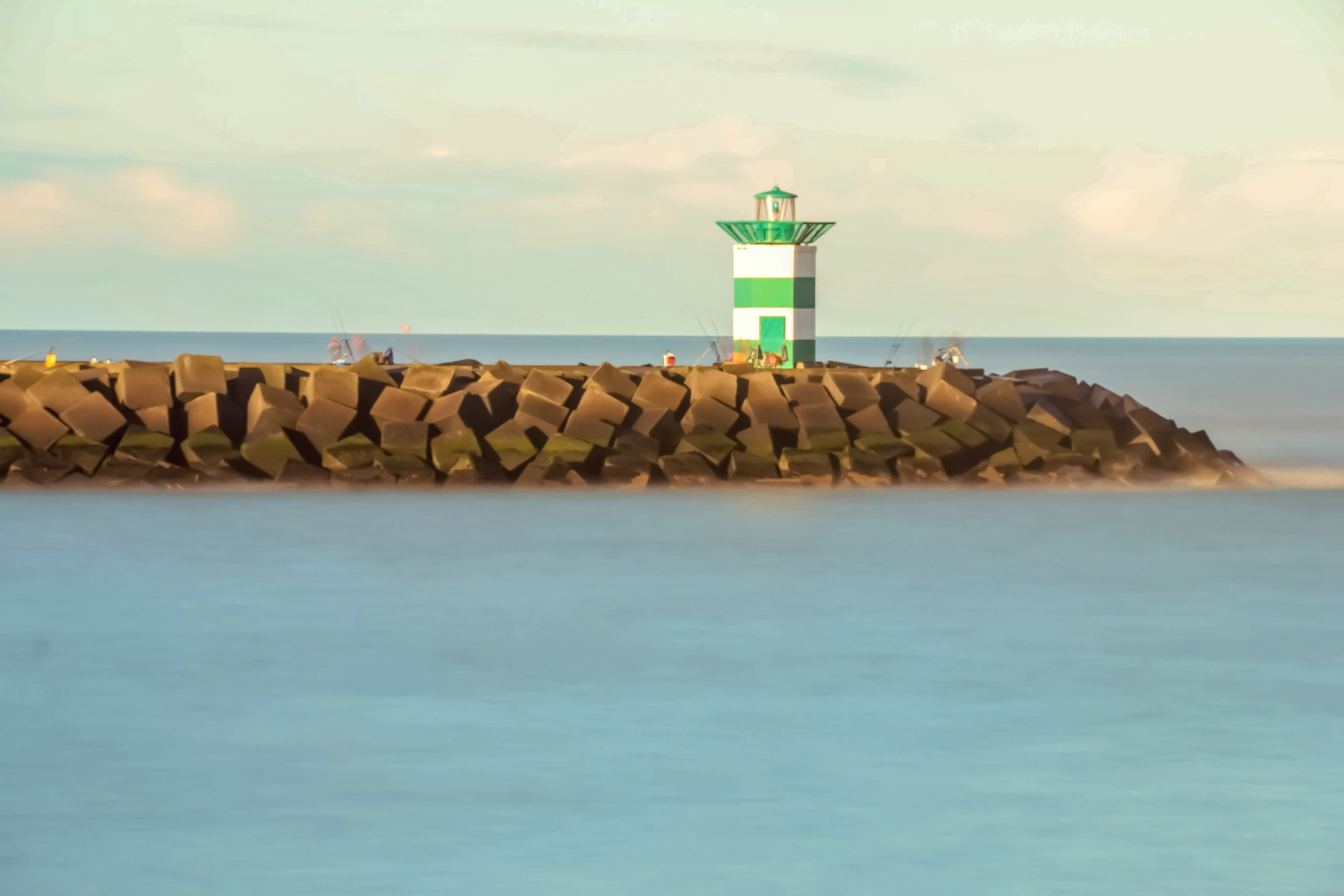 look at the green lighthouse  by Ronald Duverge