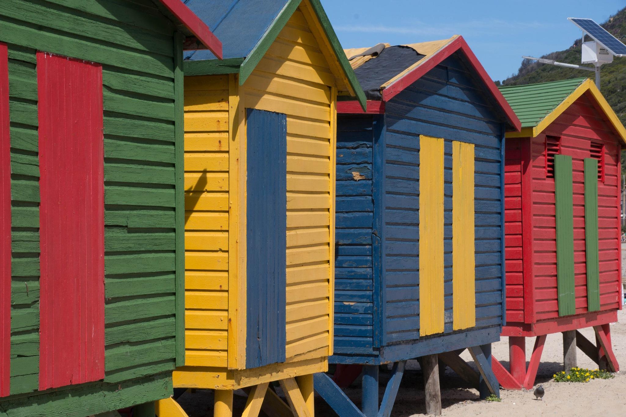 beach huts  by martin