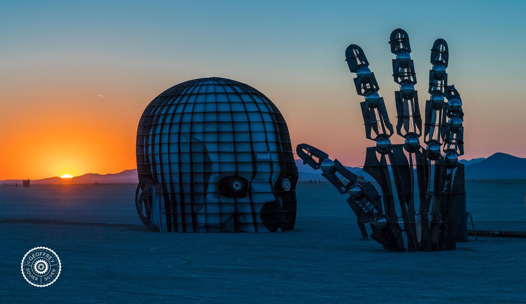 Art at Burning Man  by Geoffrey Squier Silver