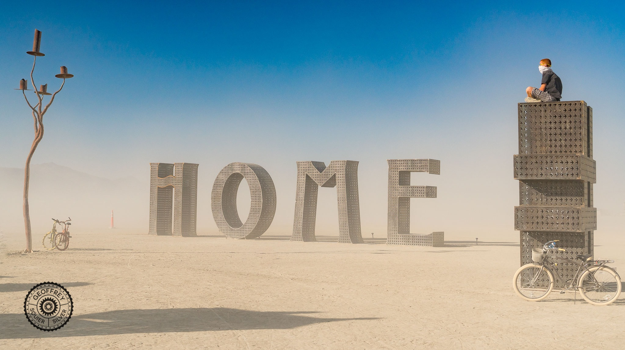 """Home"" Laura Kempton's art project  by Geoffrey Squier Silver"