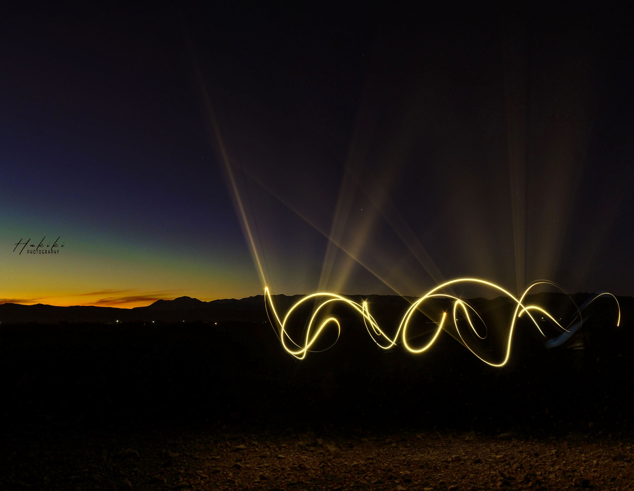 nice sunset with some lights  by Ismail Hakiki