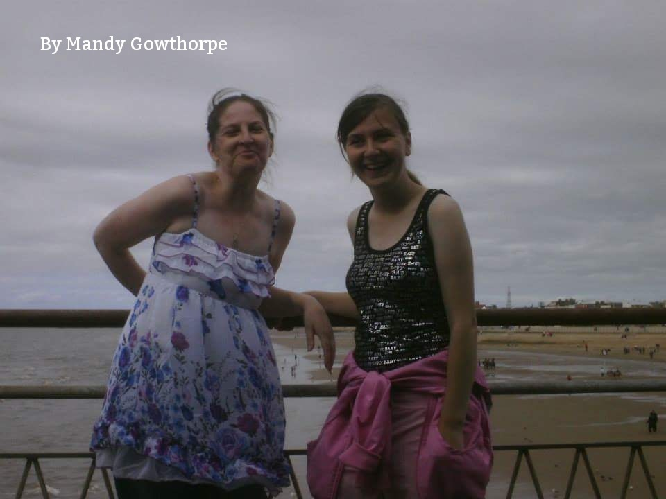 Me and my niece  by mandy gowthorpe