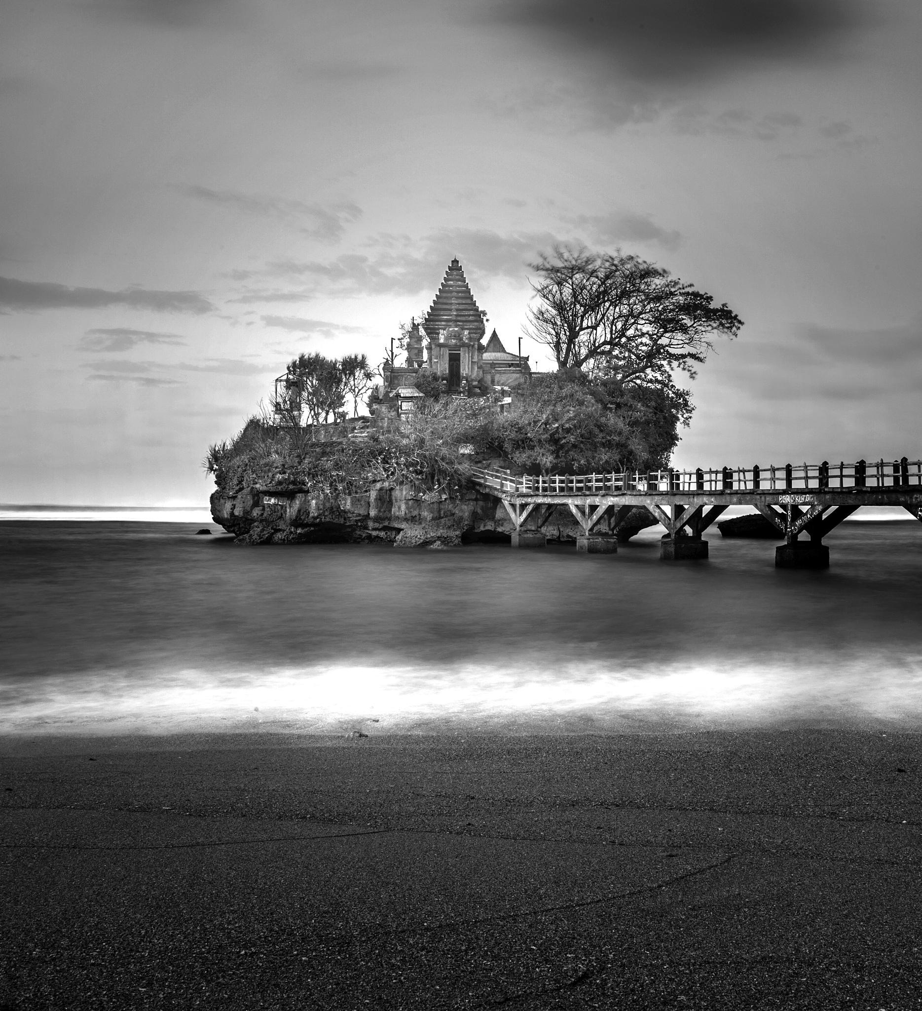 Photo in Black and White #black&white #youpic #landscape #fineart #beach #temple