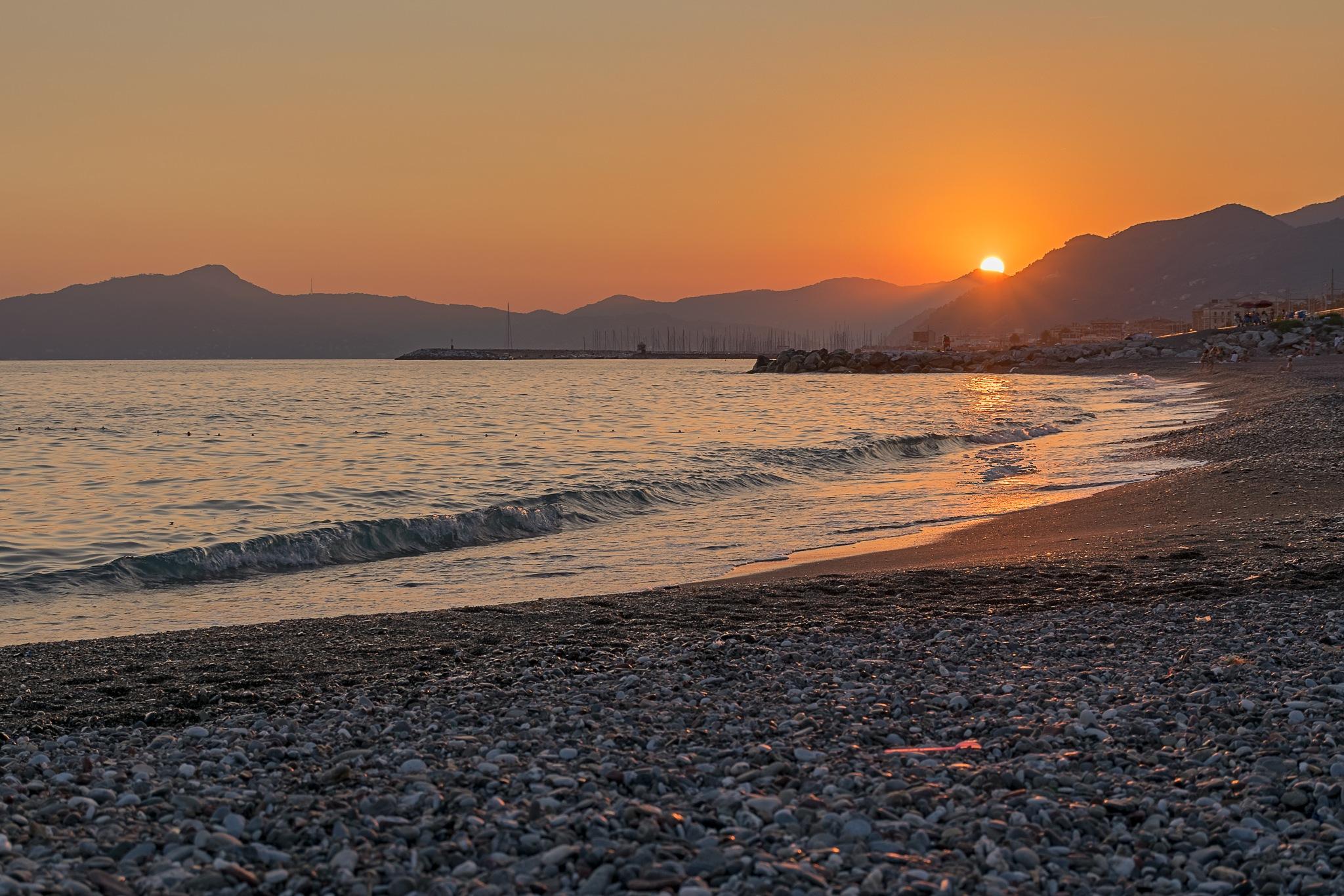 Sunset at the sea by Mauro De Vita