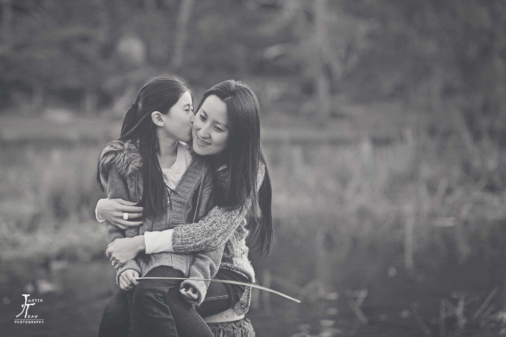 Photo in Family #family #bonding #justin tran #justin tran photography #black and white #b&w #portrait #national park #park #lake #people #love