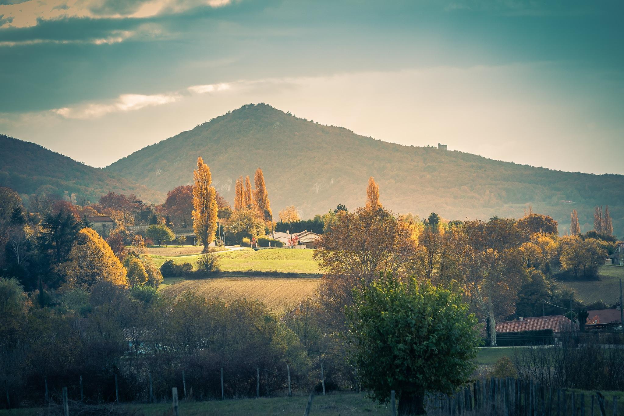 Landscape near Peyrus, France by Jean-Charles C.