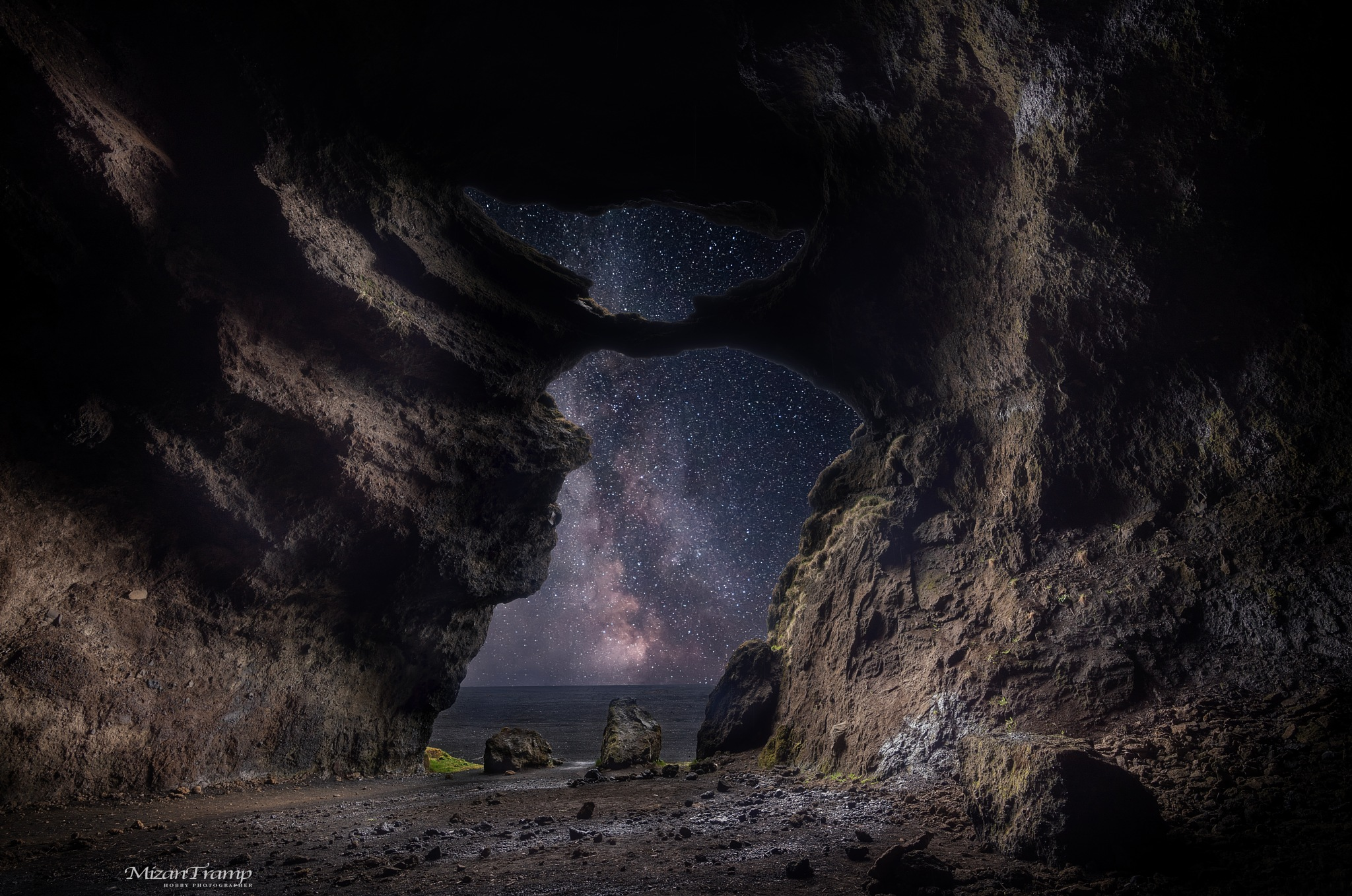 Cave in Iceland by MizanTramp
