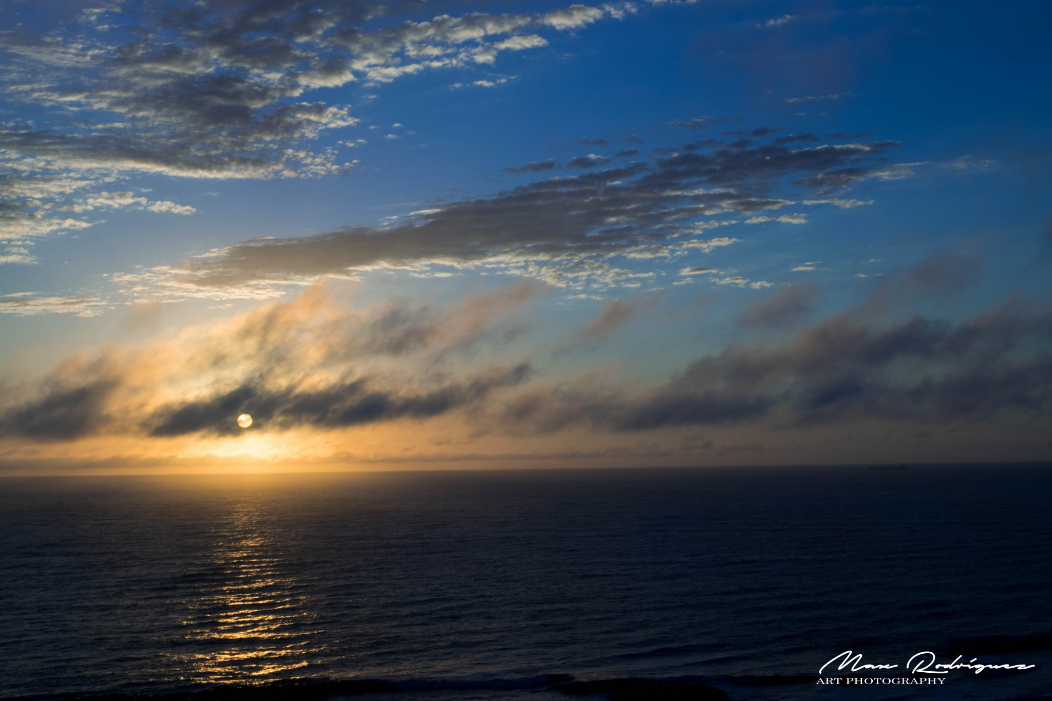 Cloudy Sunrise on the Sea by Max Rodríguez