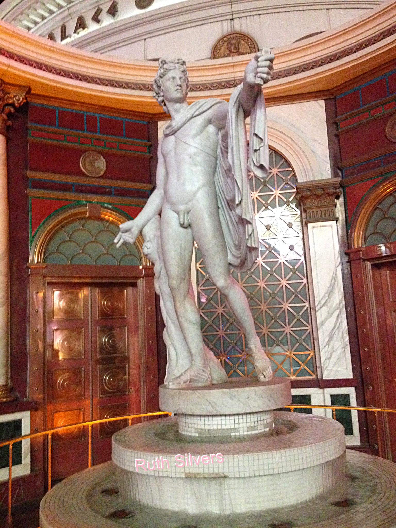 Another statue at Caesar's by Ruth Silvers