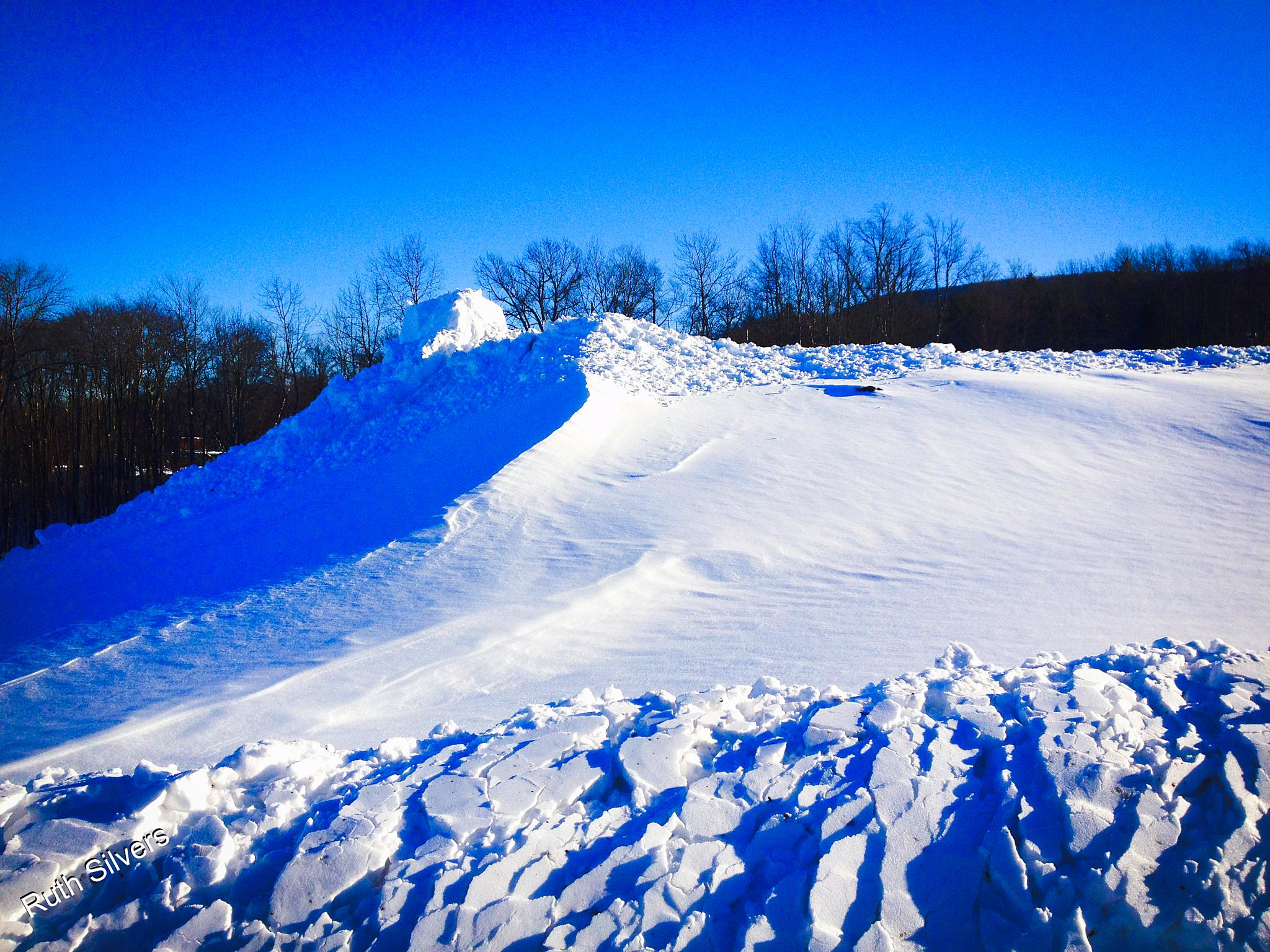 Snow pile by Ruth Silvers