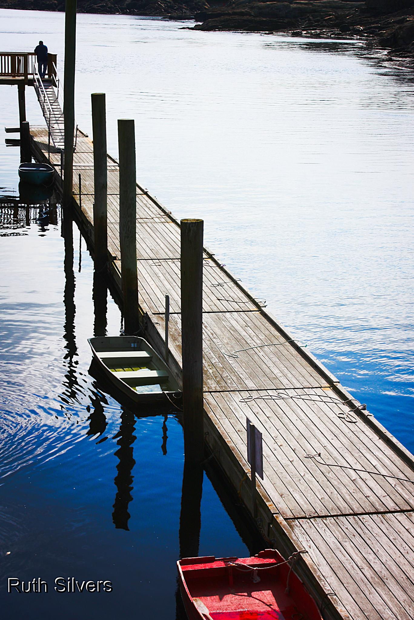On the dock by Ruth Silvers