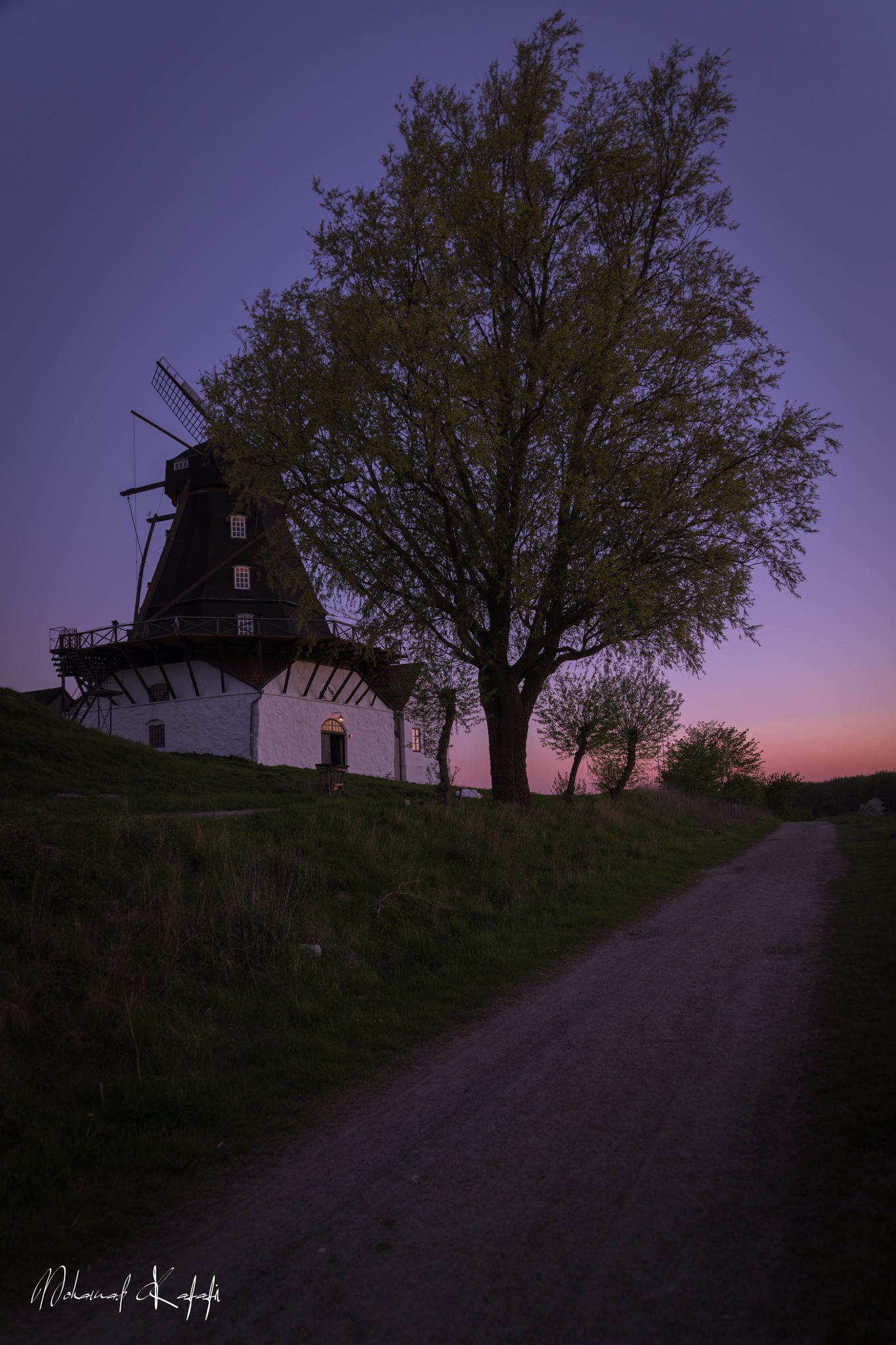 Sunset view wind mill by Mohamad Kafafi