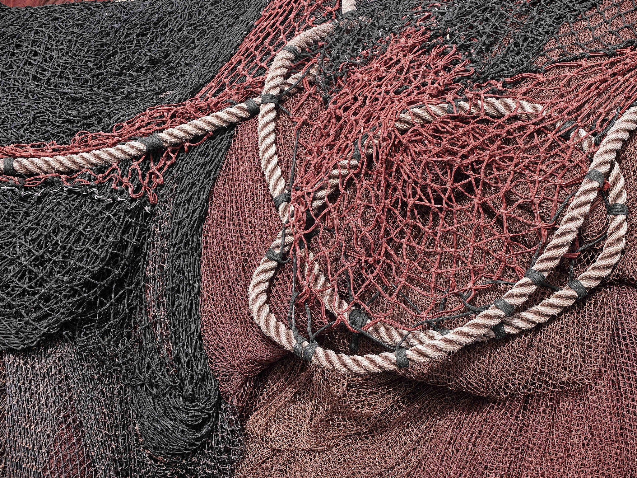 Fishing nets by Alberto Figueroa