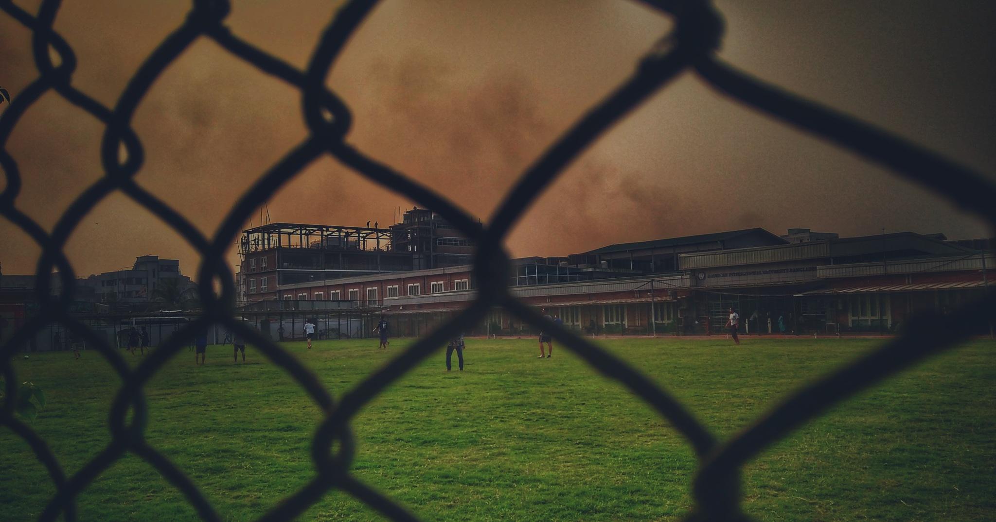 Football field by Kenji Photography