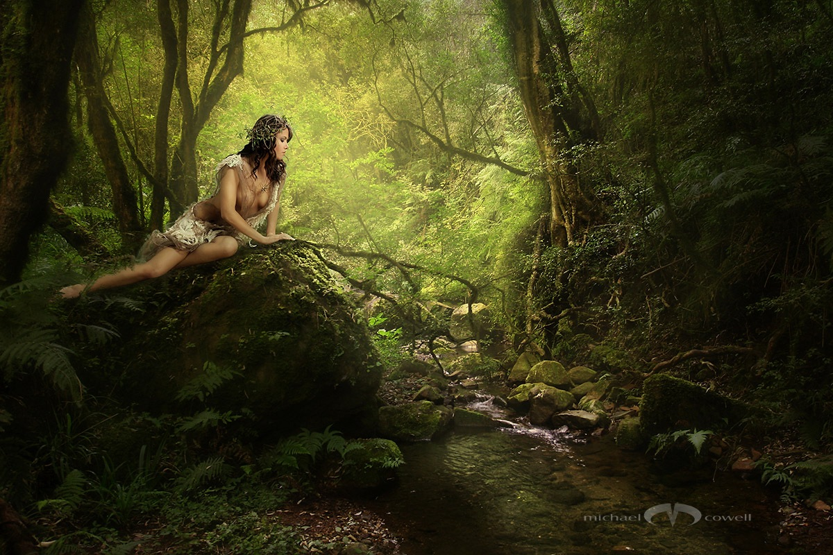 Forest nymph 01 by Michael Cowell