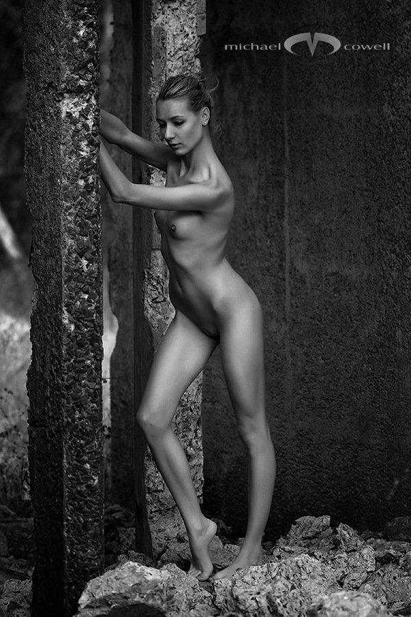 Nude in a ruin 001 by Michael Cowell