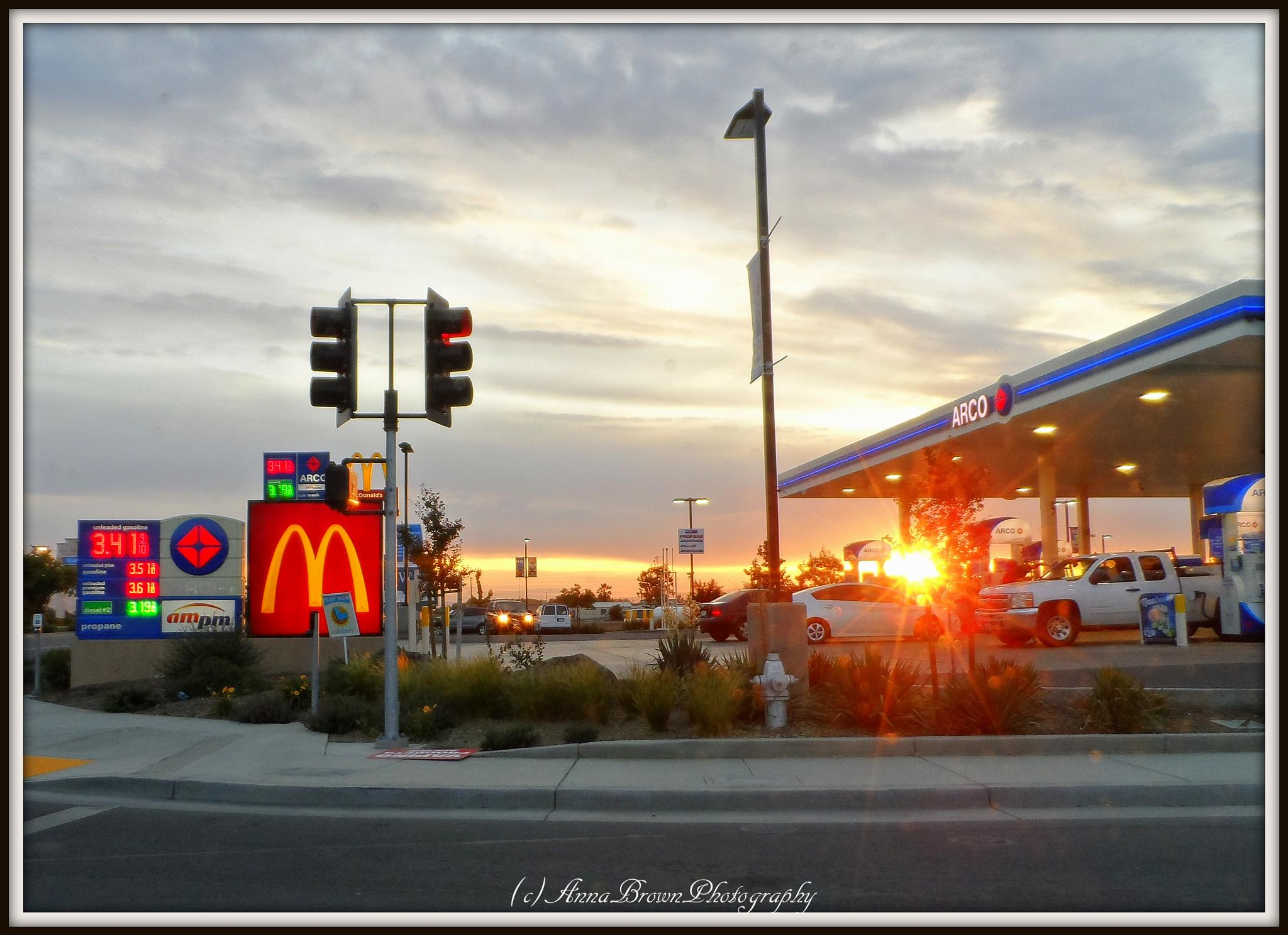 Sunset from the corner of town... by Anna Heaslett-Photography