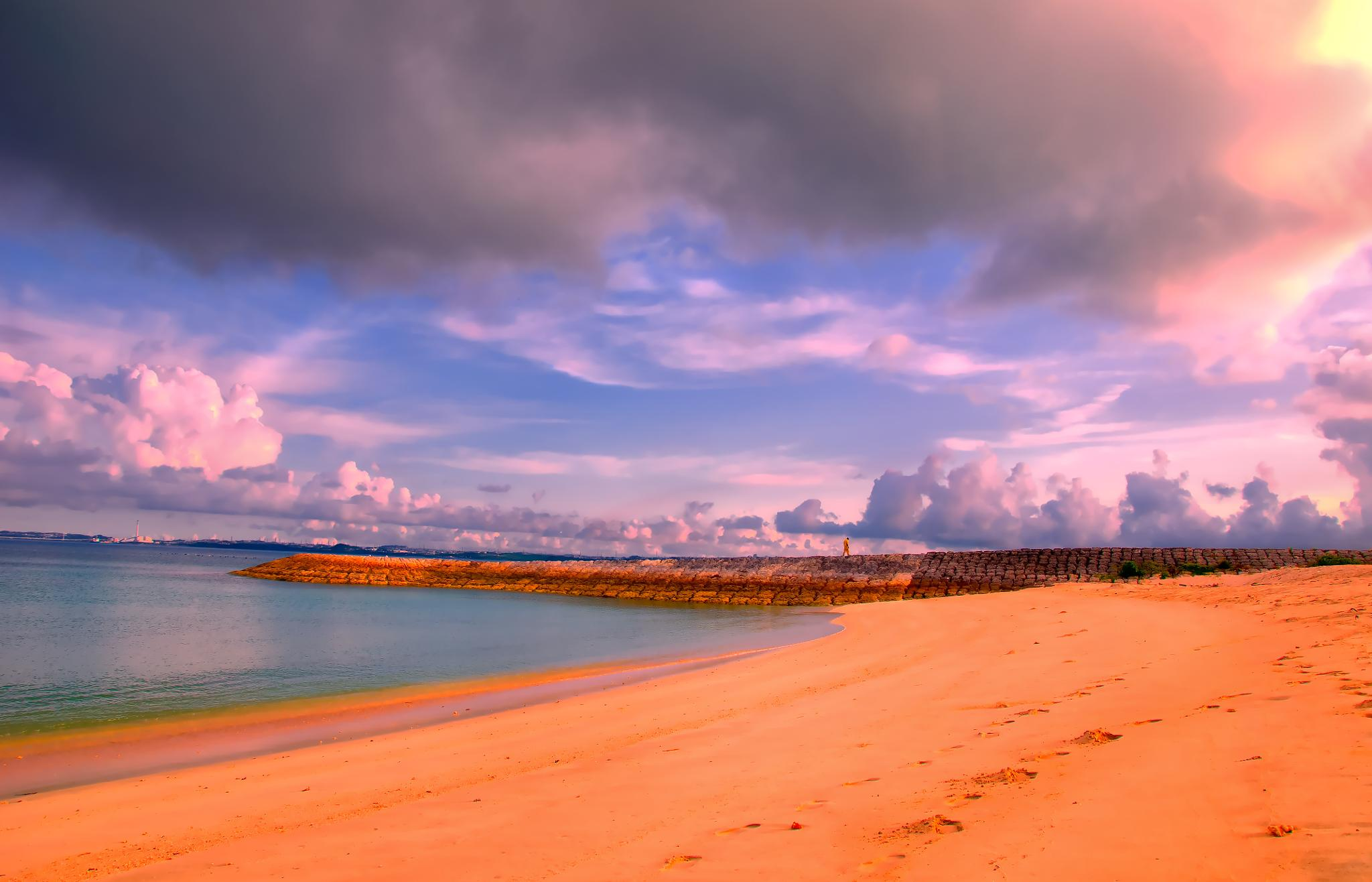 Photo in Landscape #okinawa #japan #ocean #color #clouds