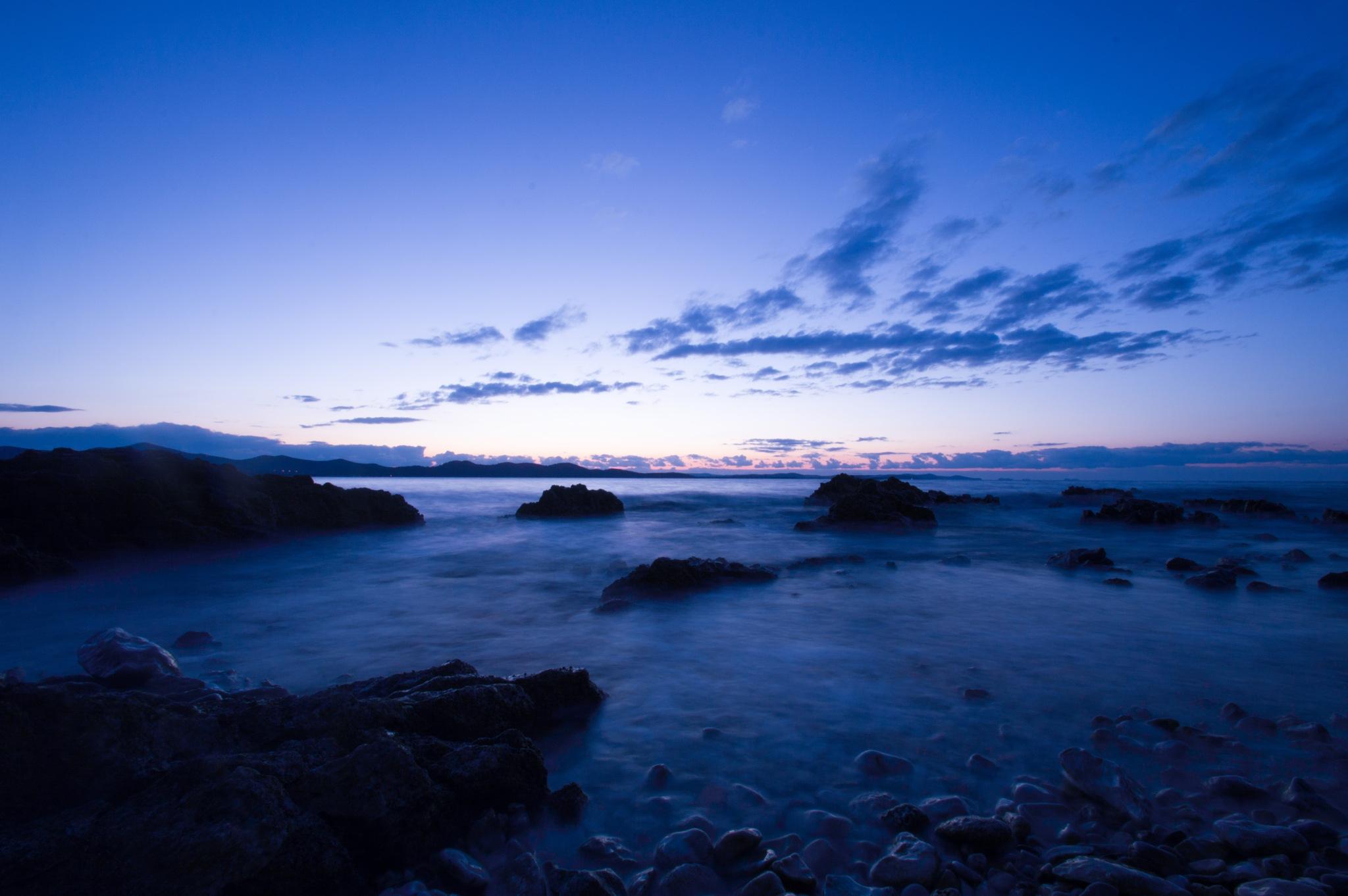 Blue hour silk by Mihovil