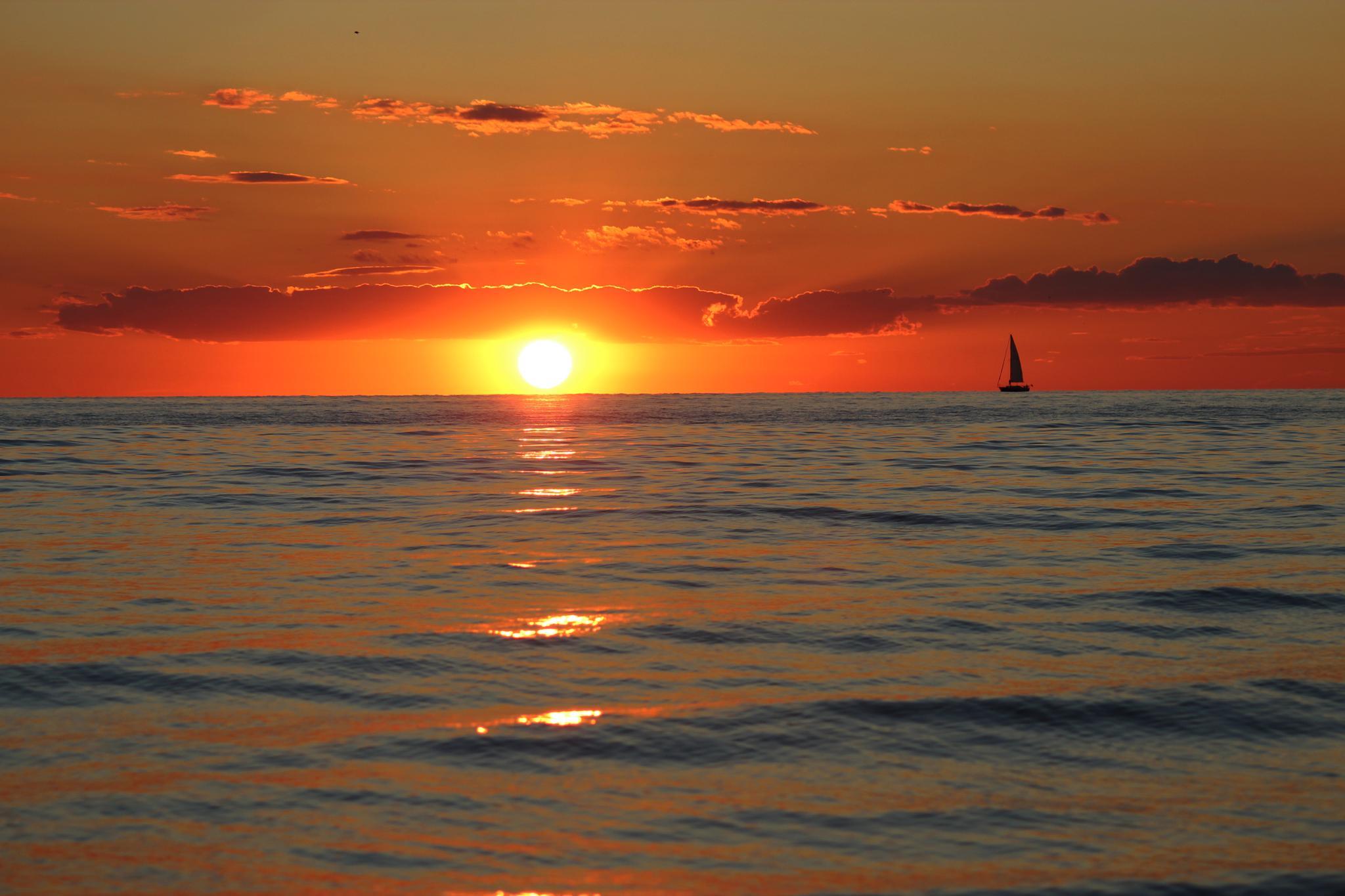 Lake Michigan sunset by Nicole Derrickson